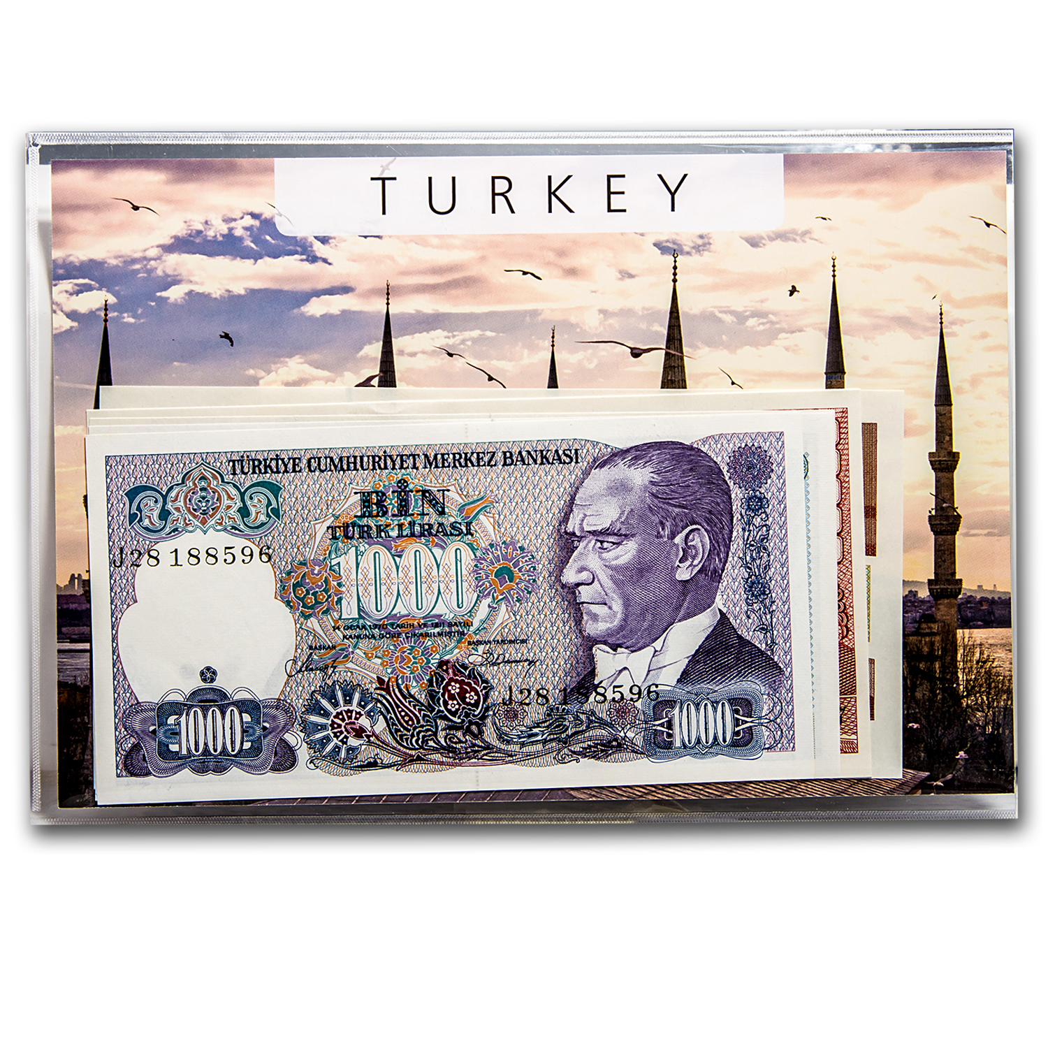 1986-1997 Turkey 1000-100000 Lira Banknote Set Unc