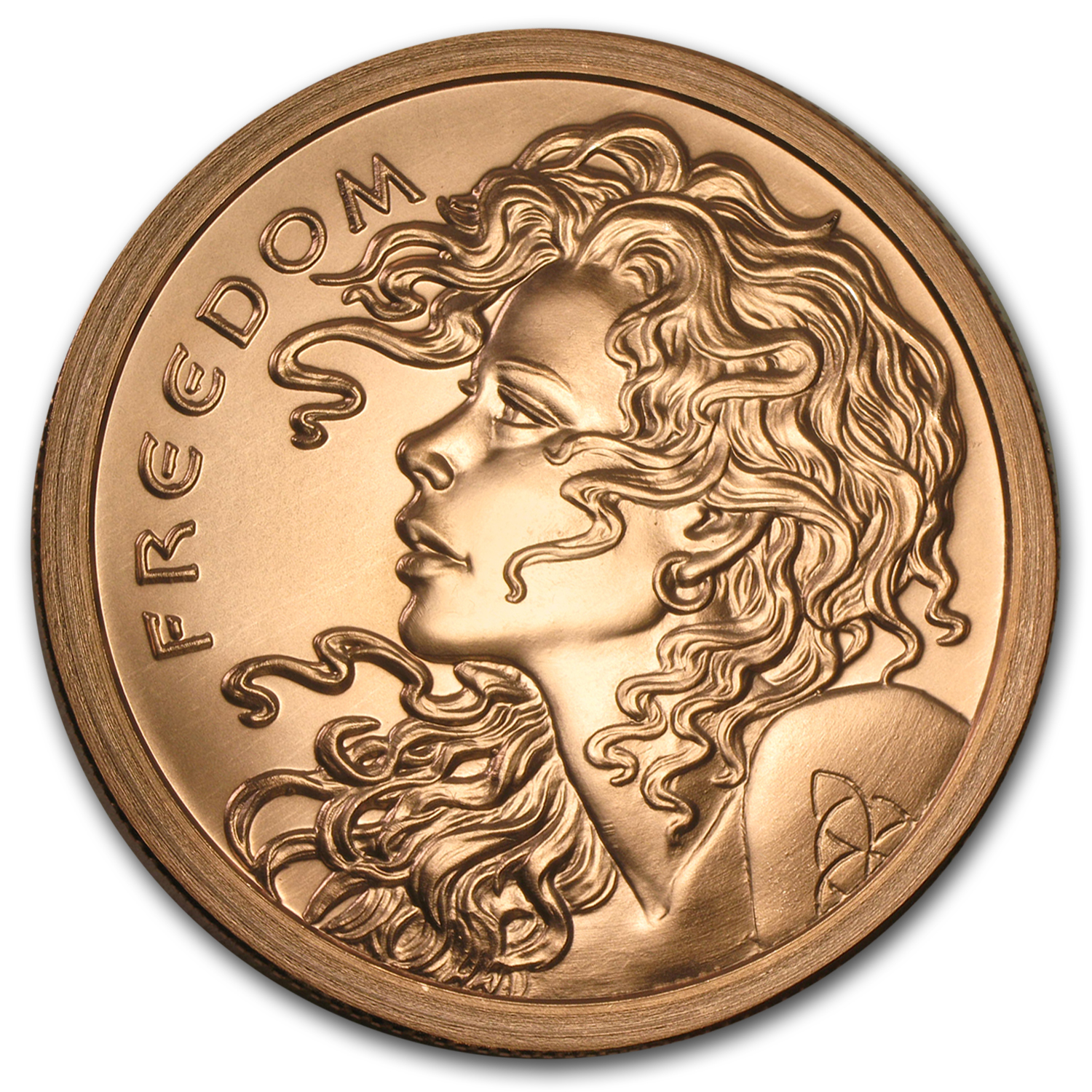 5 oz Copper Round - Freedom Girl