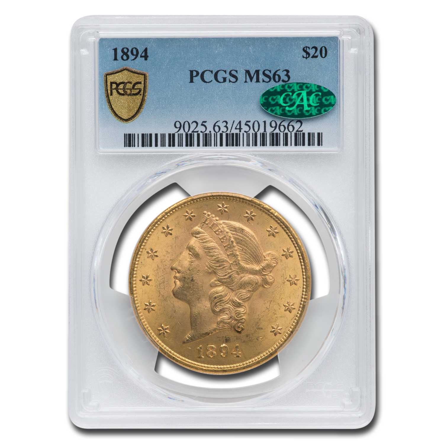 1894 $20 Liberty Gold Double Eagle MS-63 PCGS (CAC)