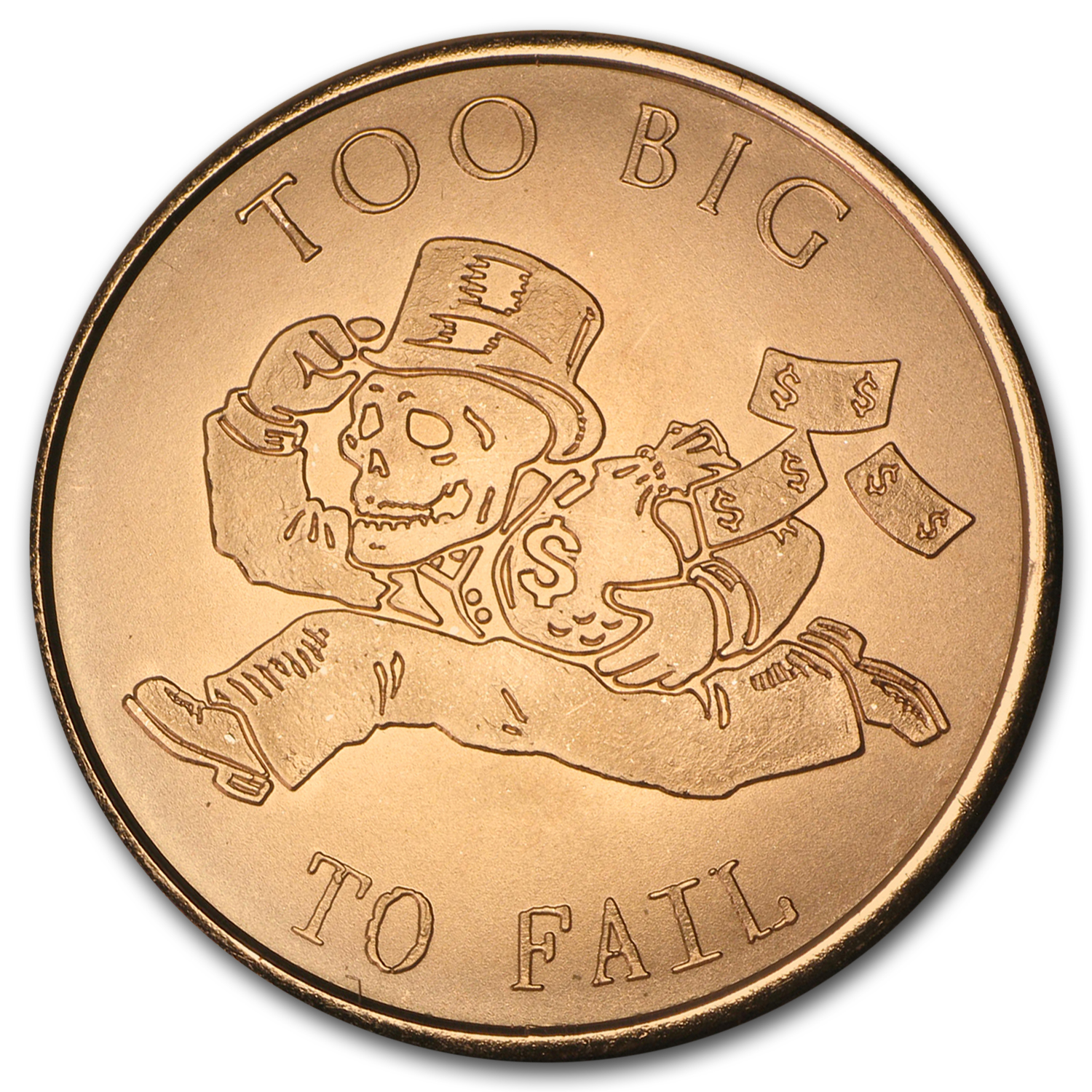 2015 1 oz Copper Round - Too Big to Fail