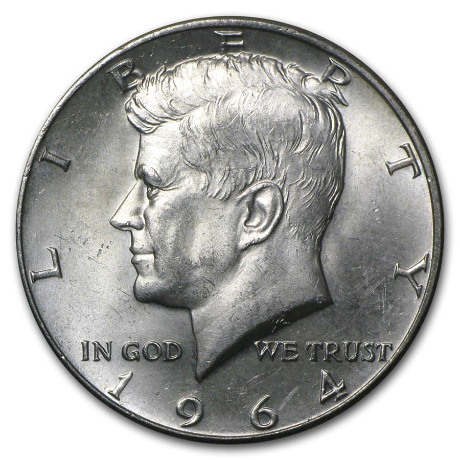 90% Silver Kennedy Half-Dollars $50 Face-Value Bag (1964)