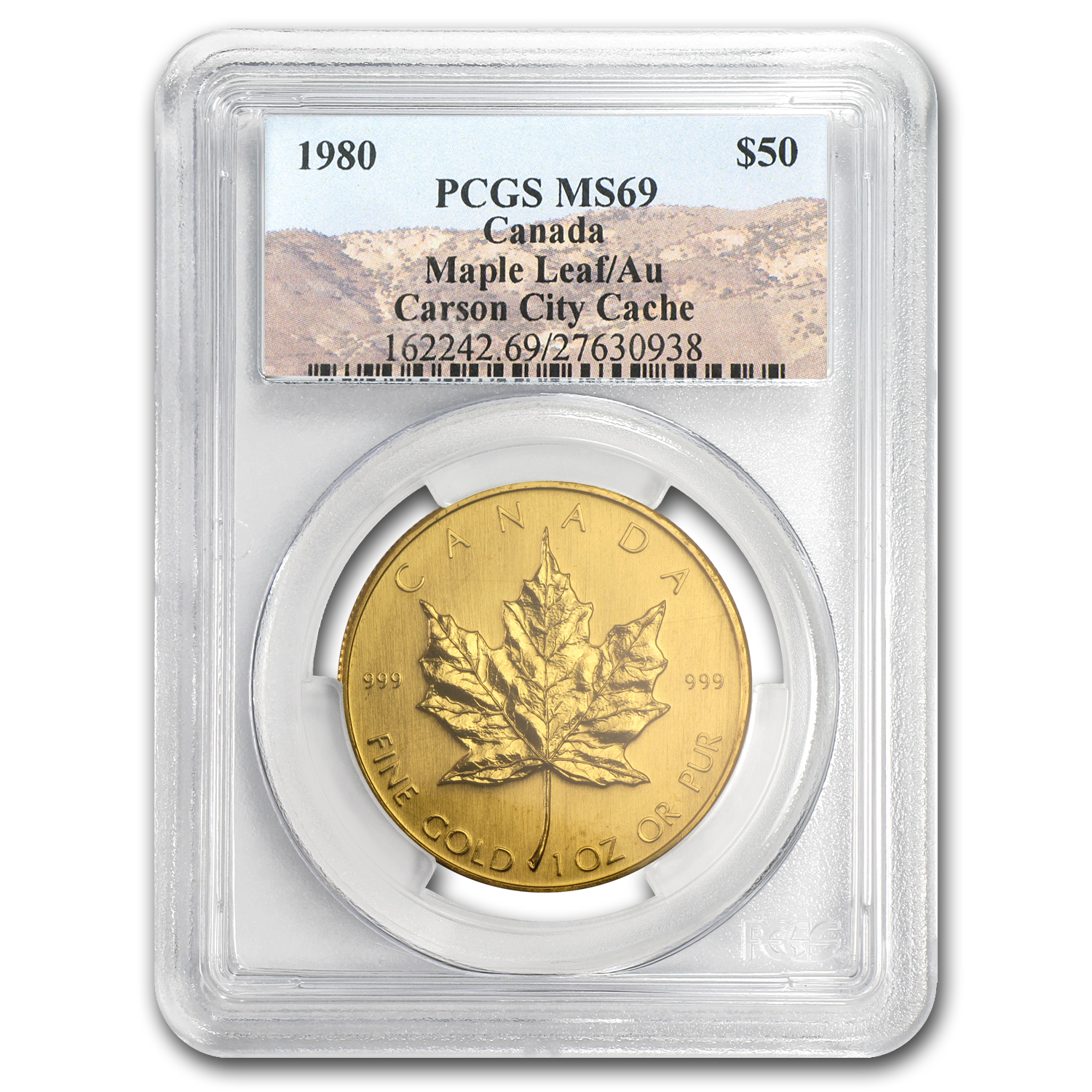 1980 Canada 1 oz Gold Maple Leaf MS-69 PCGS (Carson City Cache)