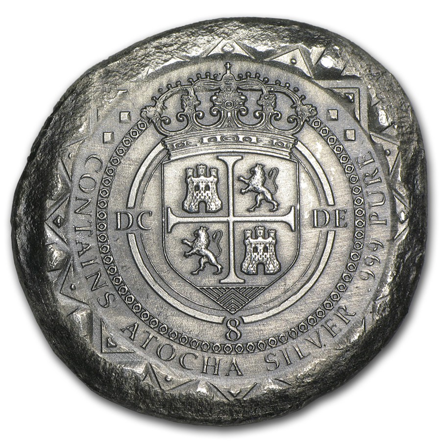 1622 atocha commemorative cob shield design misc tokens medals apmex. Black Bedroom Furniture Sets. Home Design Ideas