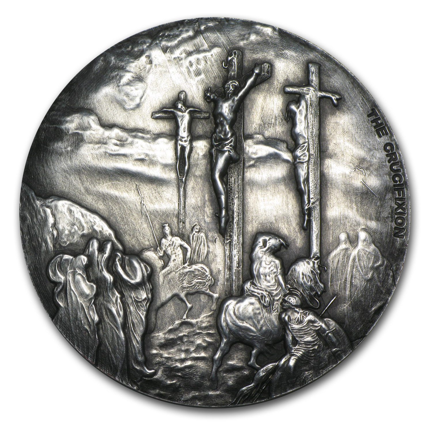 2015 2 oz Silver Coin - Biblical Series (Crucifixion)