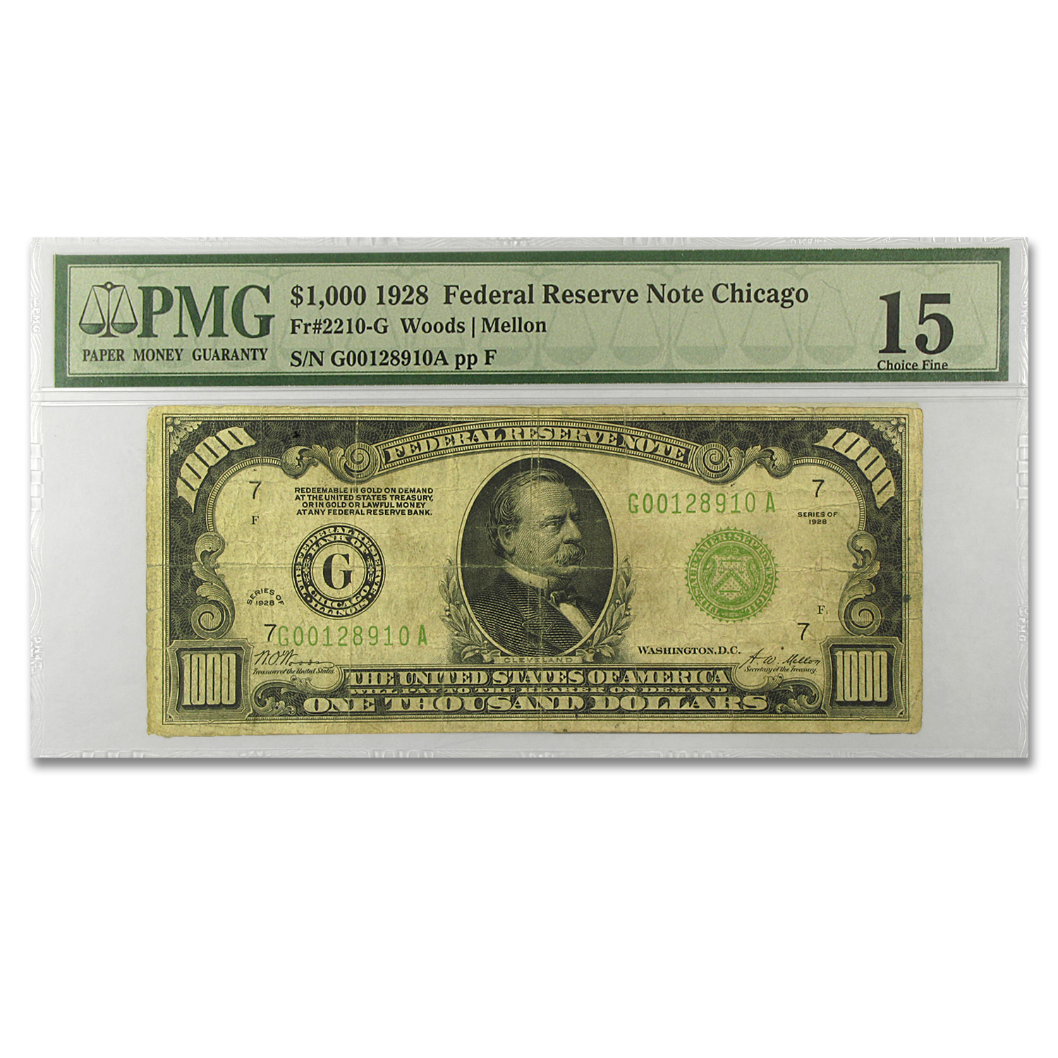 1928 (G-Chicago) $1,000 FRN Fine-15 PMG