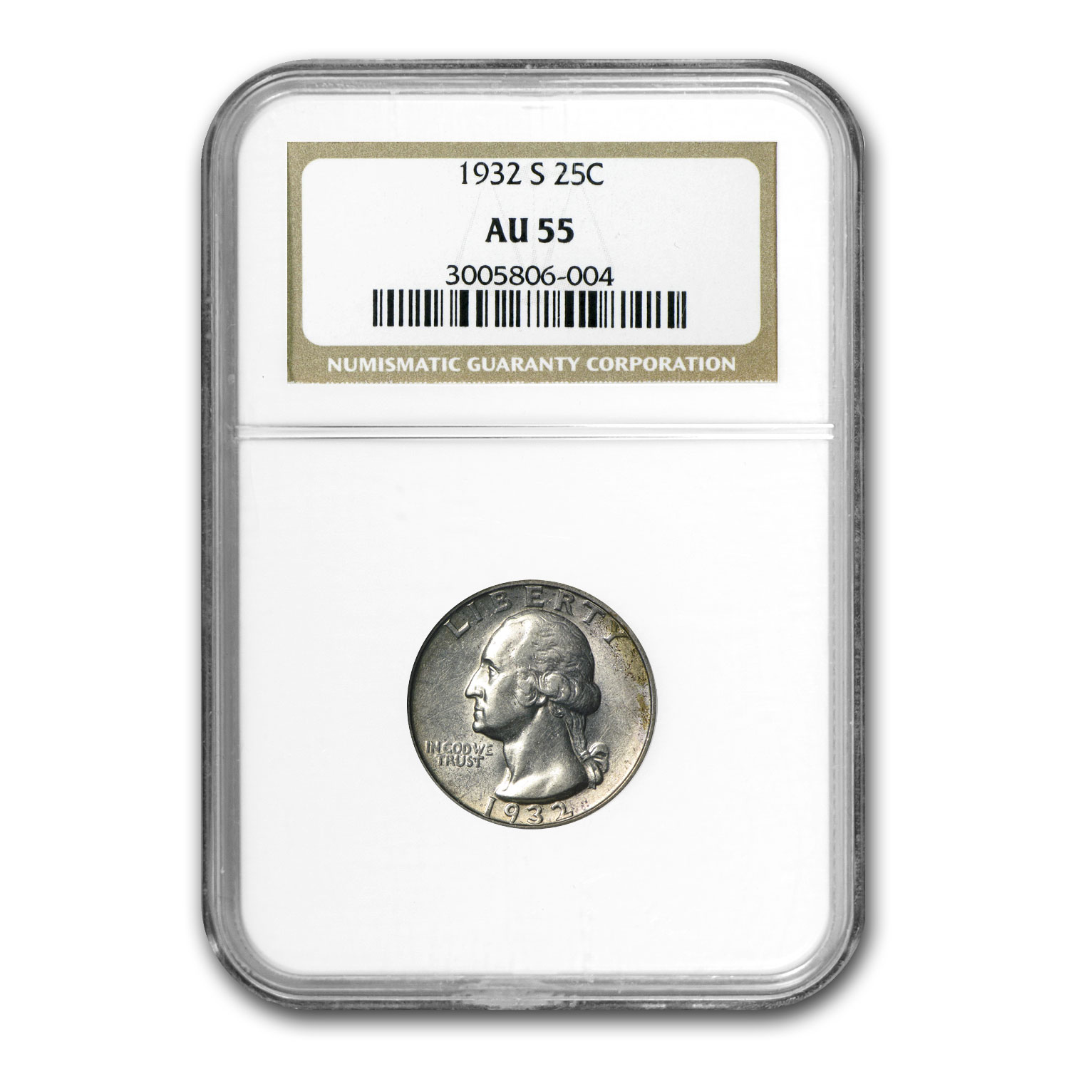 1932-S Washington Quarter AU-55 NGC
