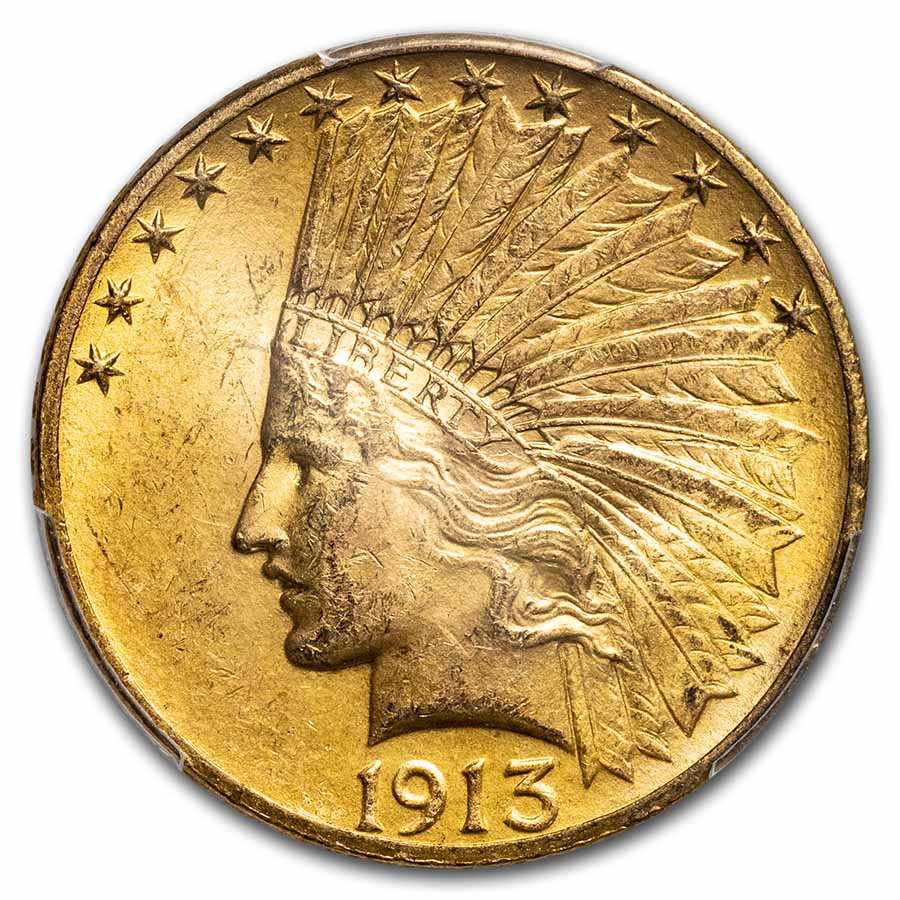 1913 $10 Indian Gold Eagle MS-63 PCGS