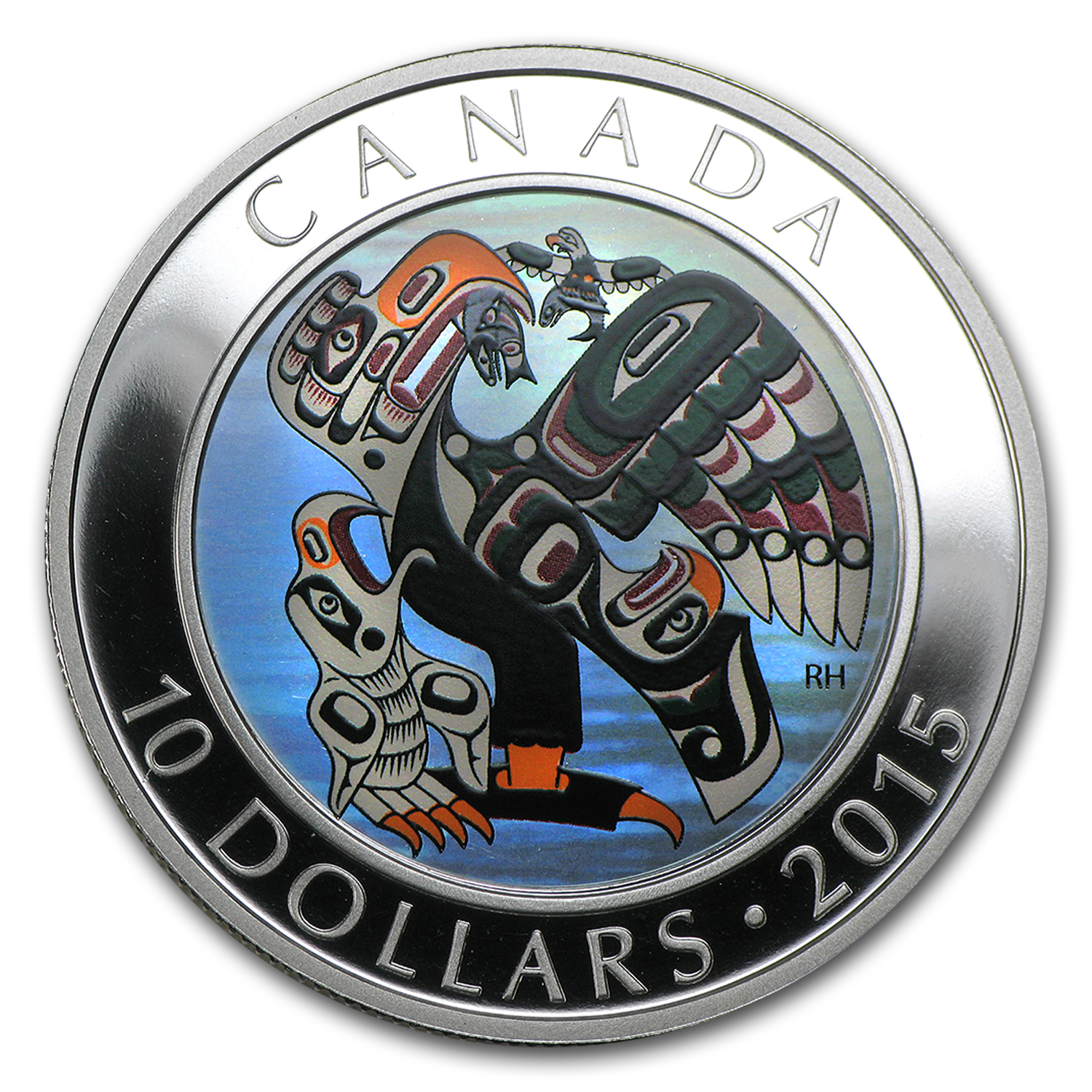 2015 Canada 1/2 oz Silver $10 First Nations Art Mother and Baby