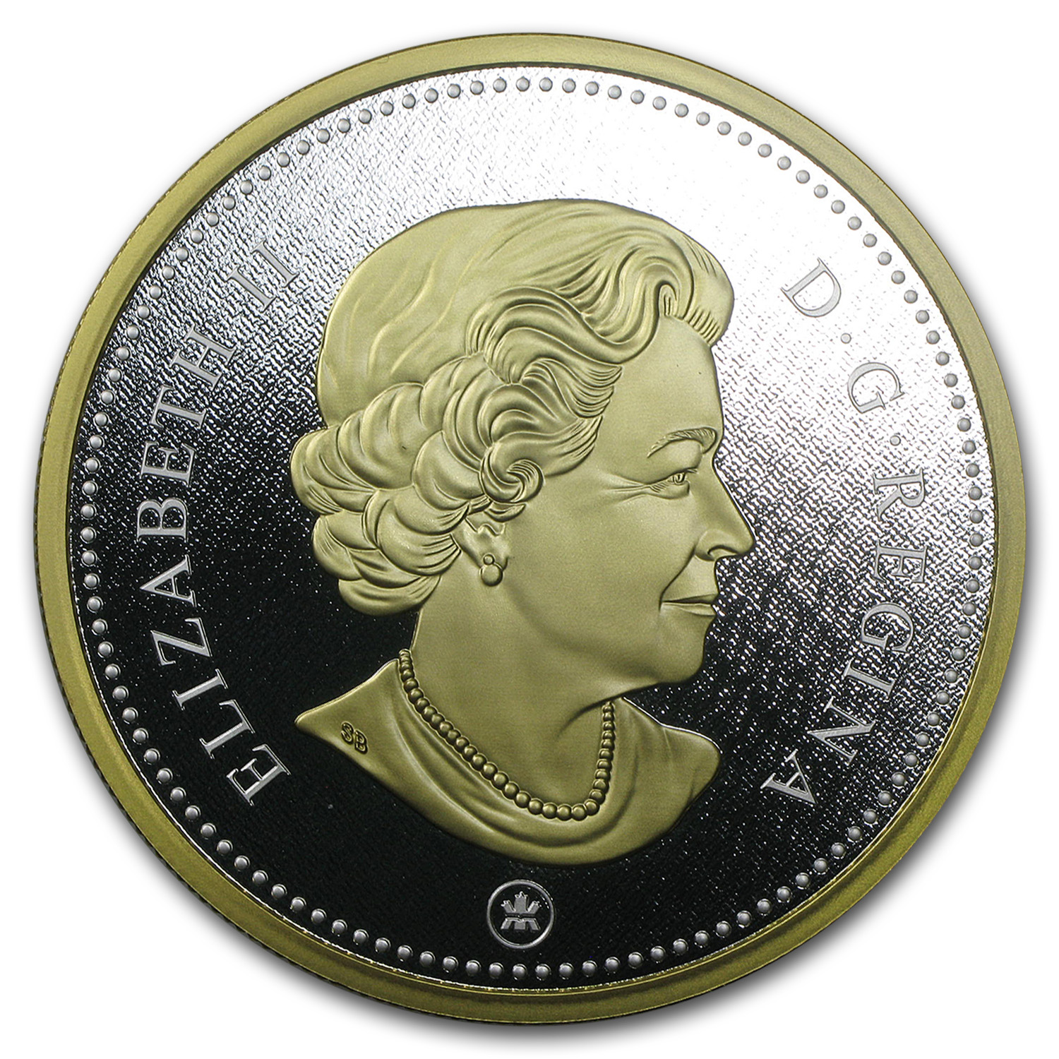 2015 Canada 5 oz Proof Silver Big Coin Series (10 Cent Coin)