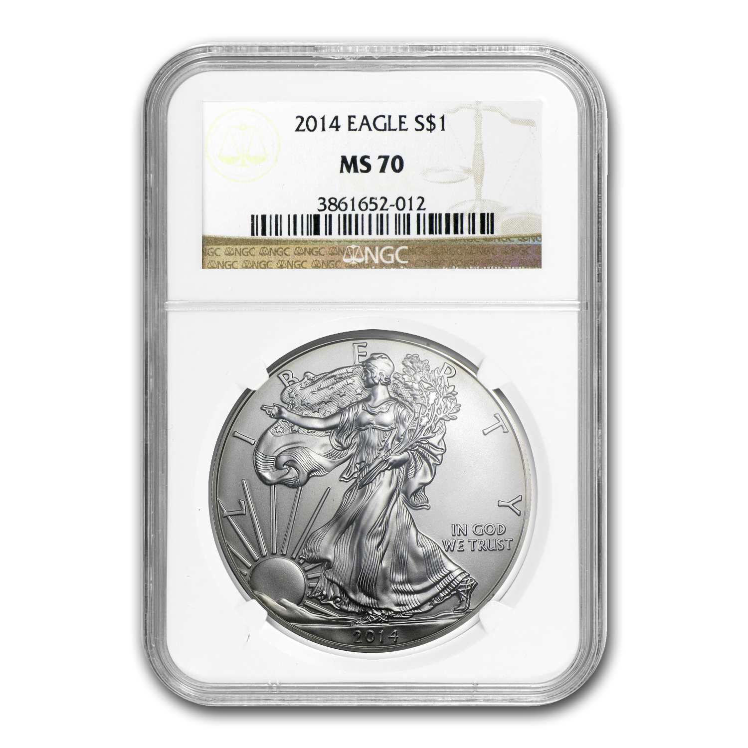 2014 Silver American Eagle MS-70 NGC