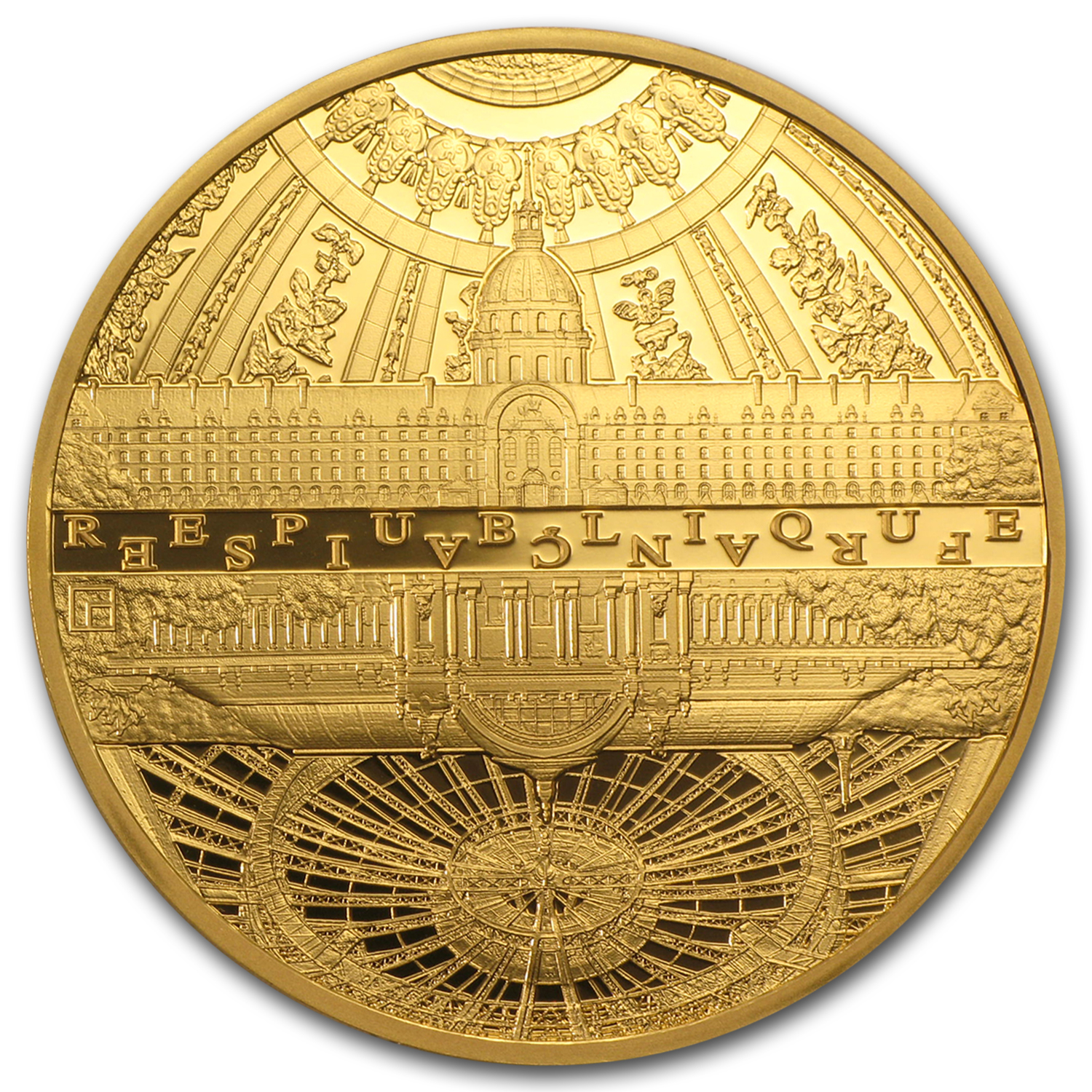 2015 France 1 oz Gold €200 UNESCO The Invalides & Grand Palais