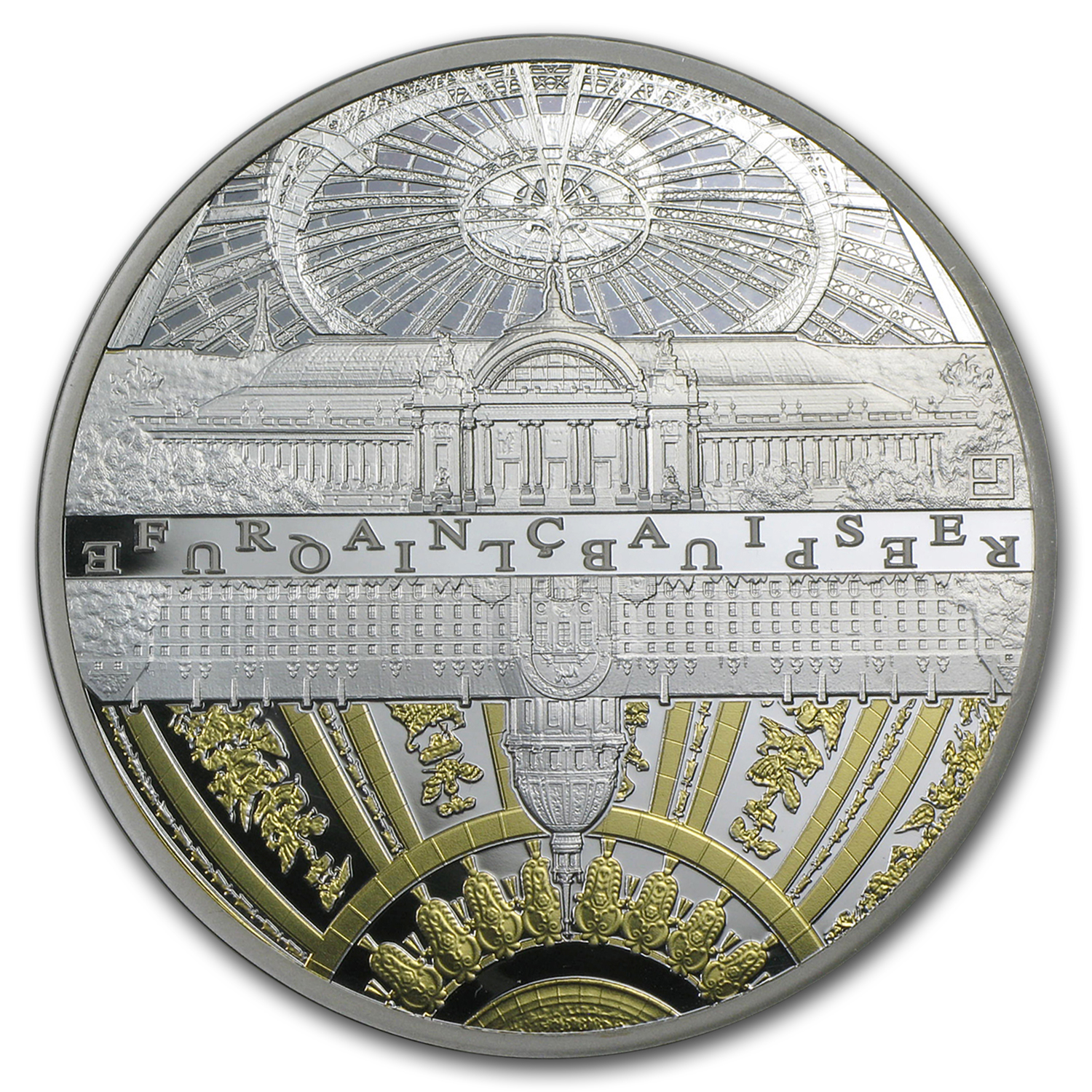 2015 5 oz Silver UNESCO Series The Invalides & Grand Palais