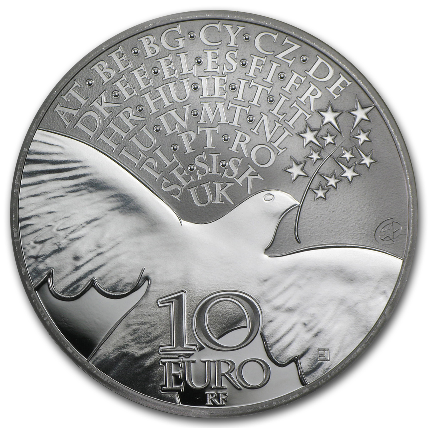 2015 Silver €10 Europa Series Prf (70 years of Peace in Europe)