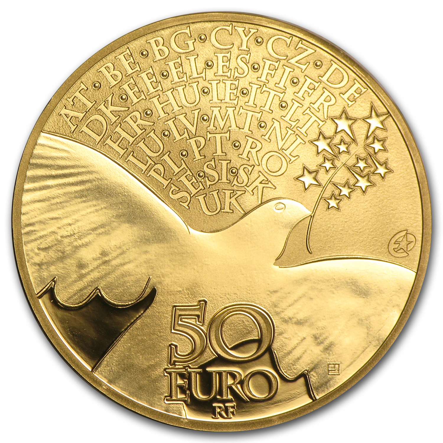 2015 1/4 oz Gold €50 Europa Series 70 years of Peace in Europe