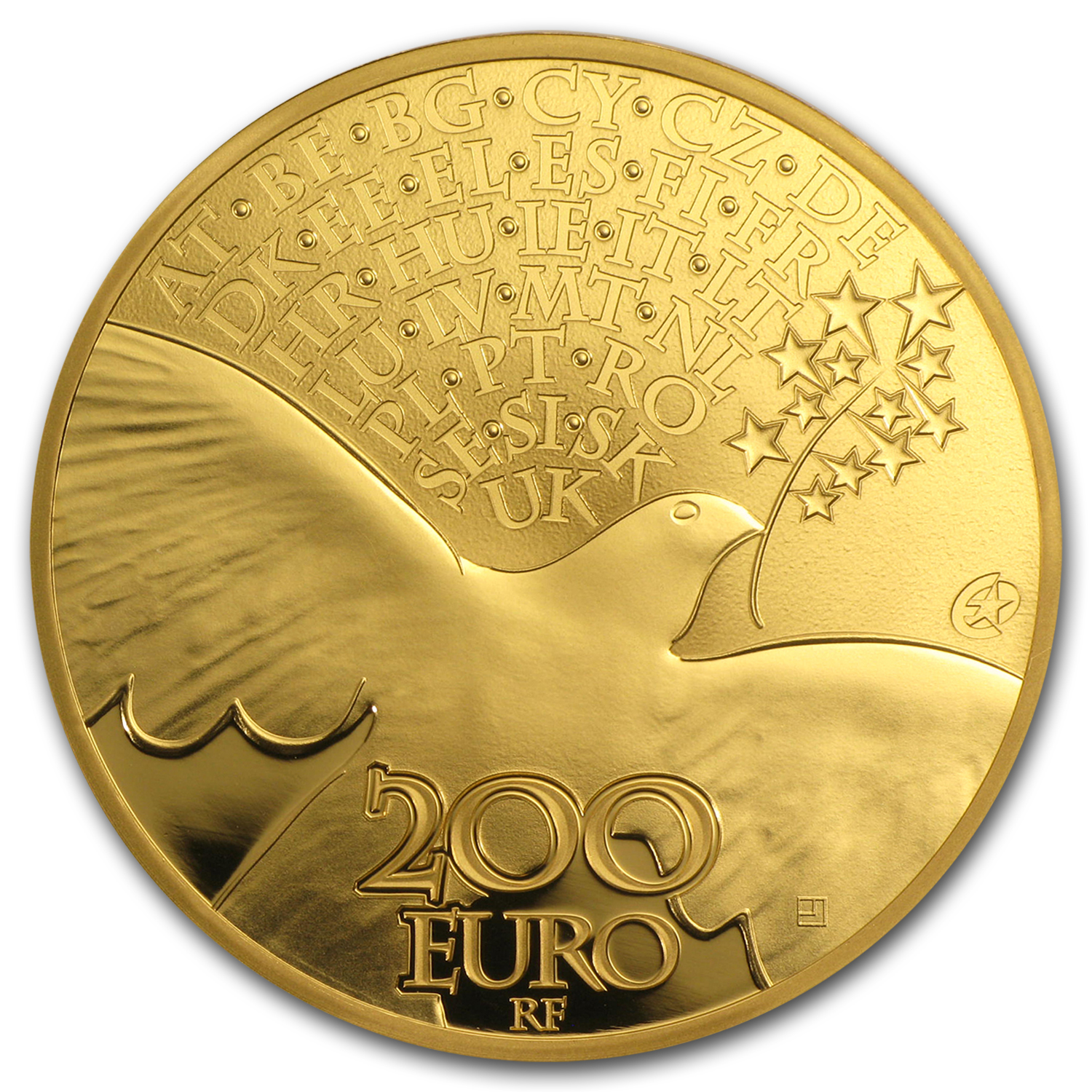 2015 1 oz Gold €200 Europa Series 70 years of Peace in Europe
