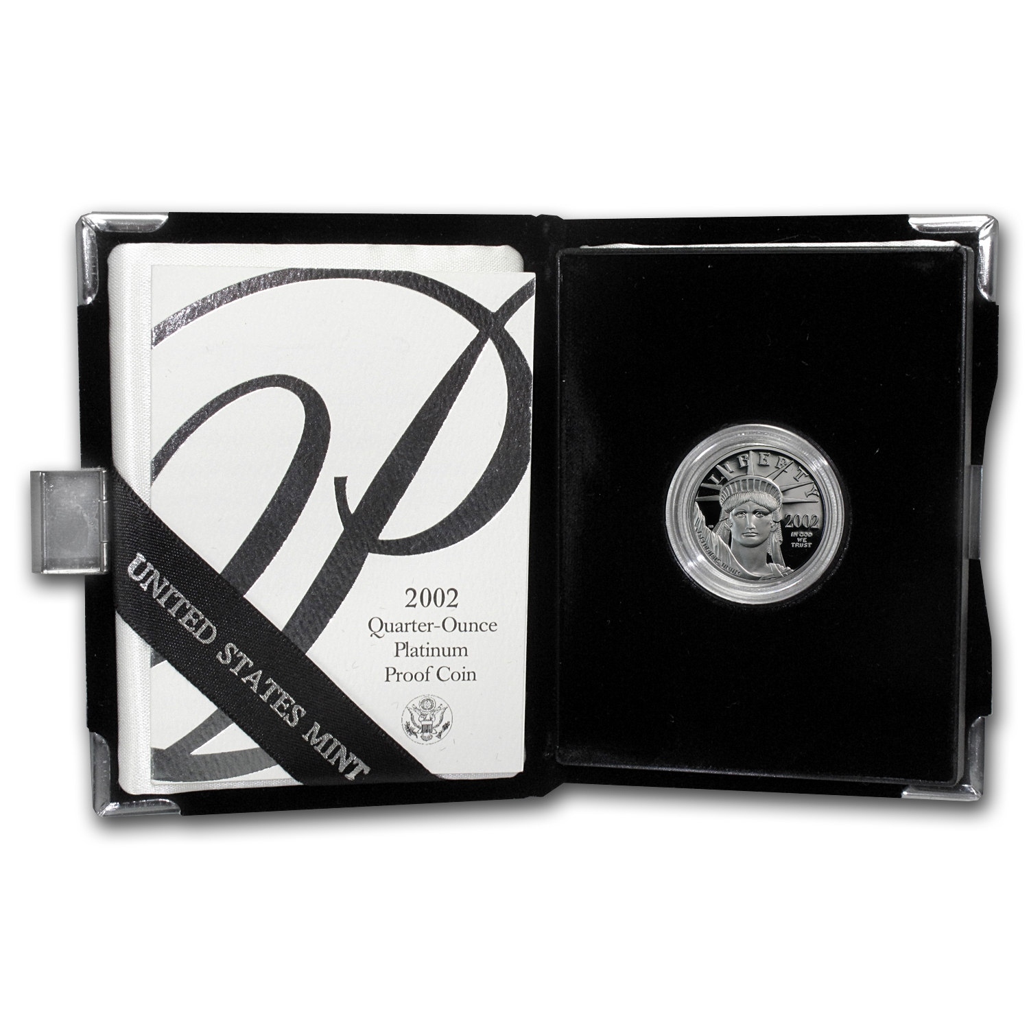 2002-W 1/4 oz Proof Platinum American Eagle (w/Box & COA)