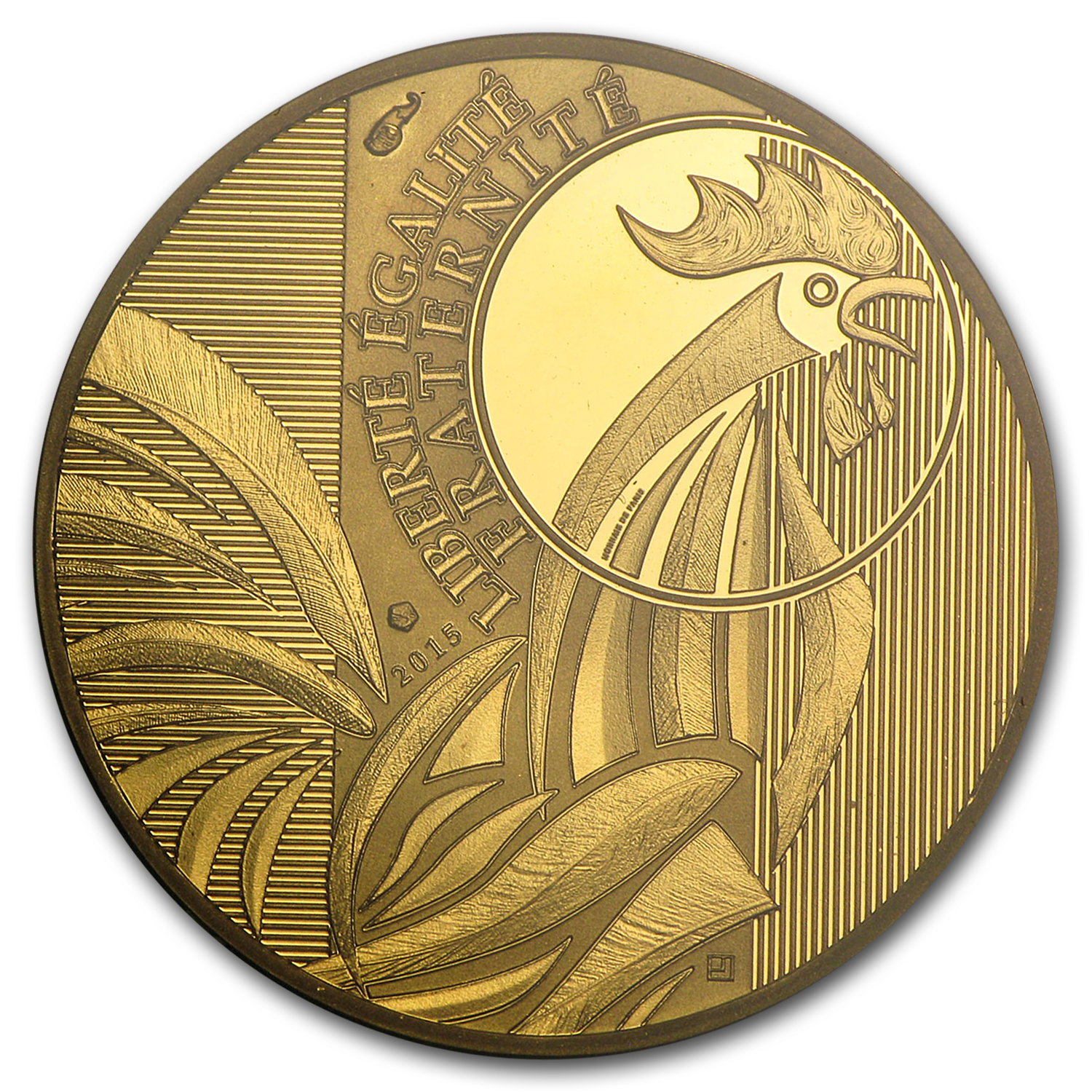 2015 France Gold €250 Rooster (Face Value Coin)