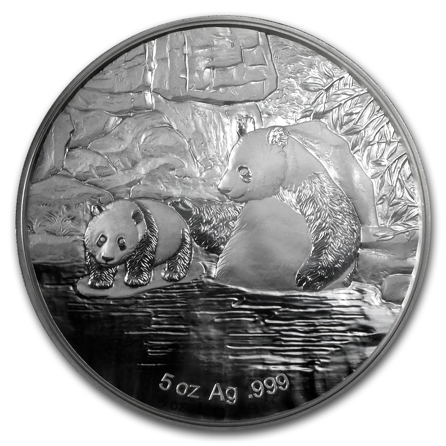2015 China 5 oz Silver Panda 60th Anniversary FUN Coin Show Medal
