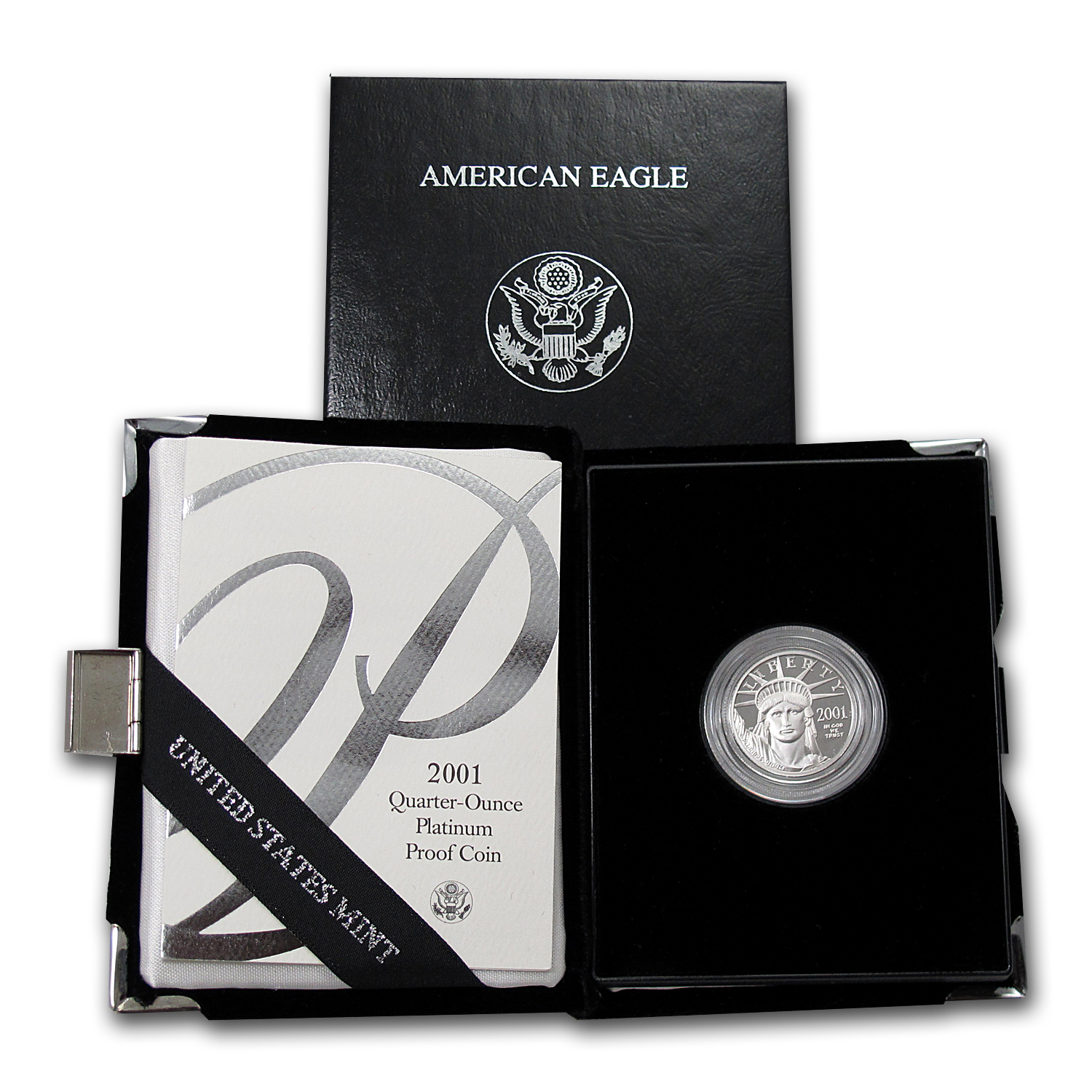 2001-W 1/4 oz Proof Platinum American Eagle (w/Box & CoA)