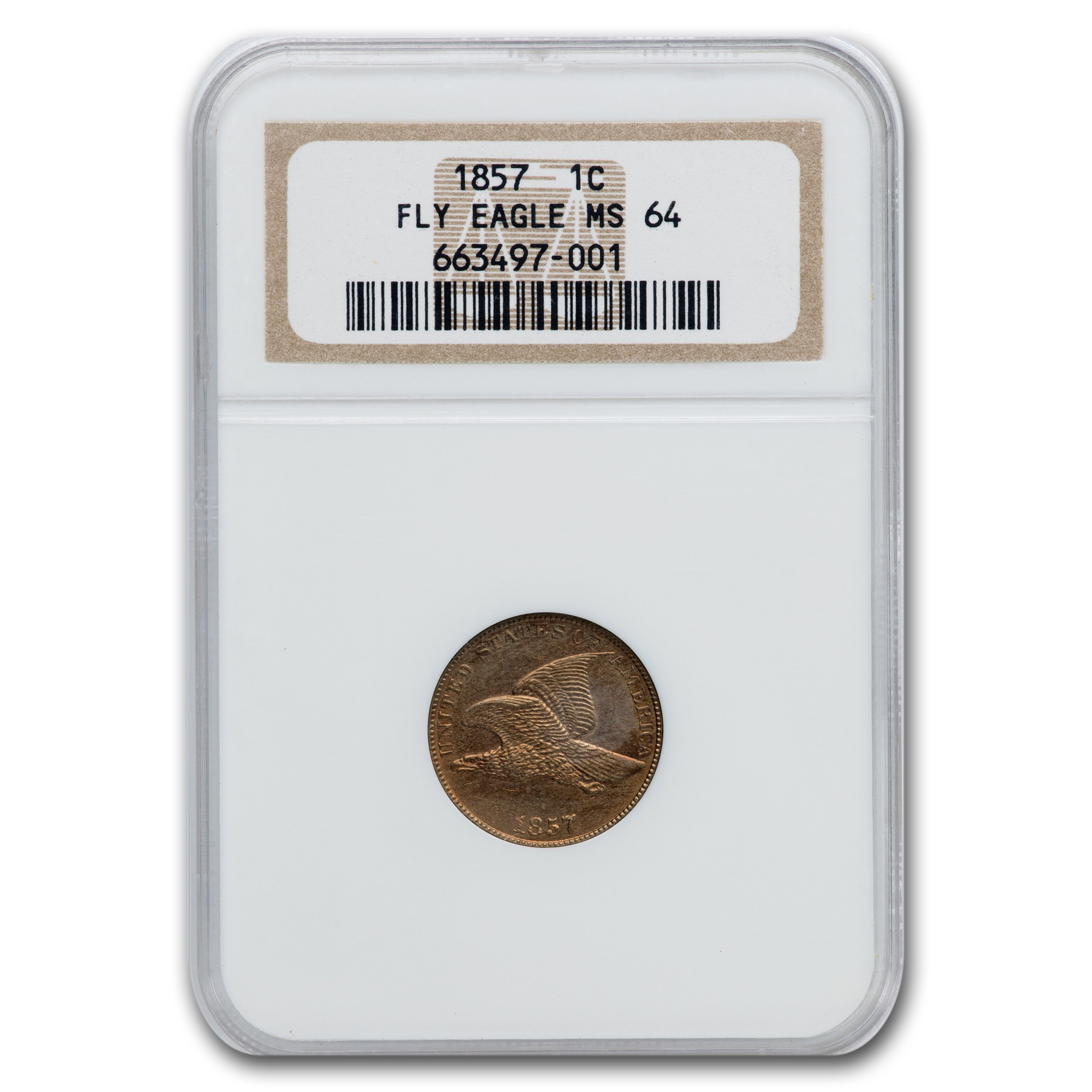 1857 Flying Eagle Cent MS-64 NGC