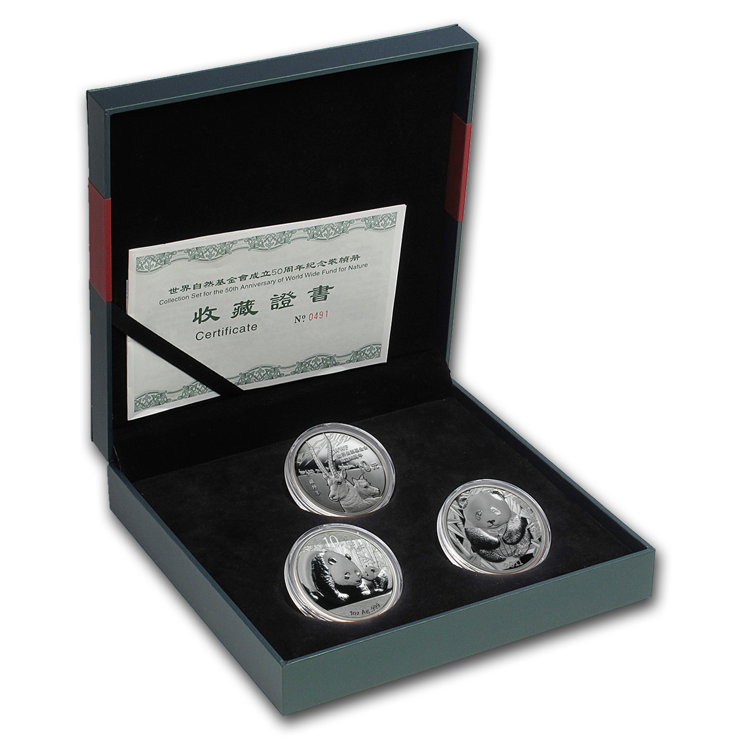 2011 China 3-Pc Proof Silver 50th Anniversary for WWF