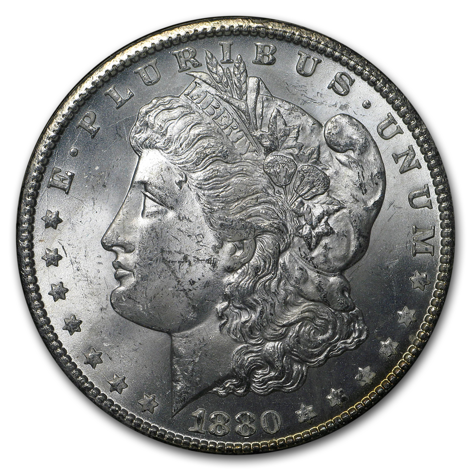 1880-CC Morgan Dollar Mint State-63 (GSA)