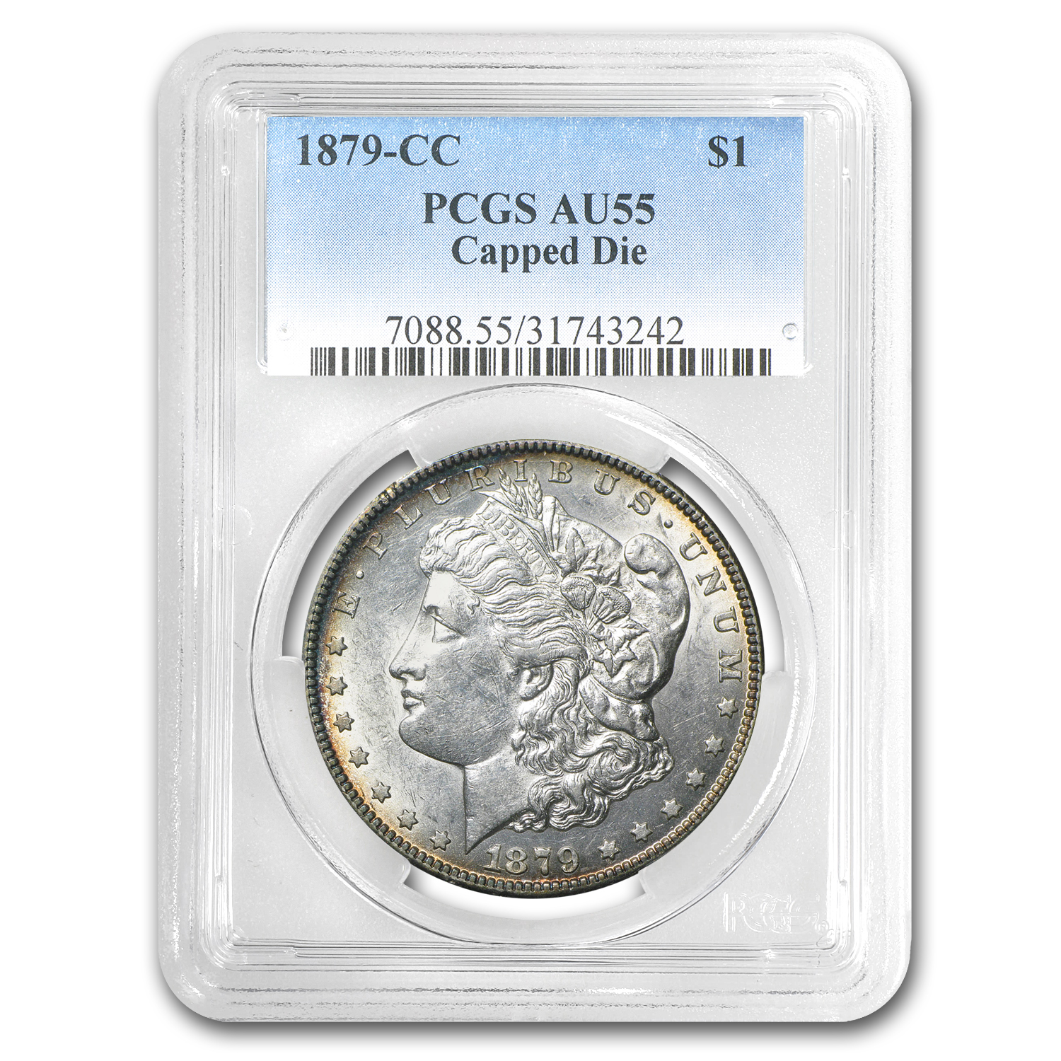 1879-CC Morgan Dollar AU-55 PCGS (Capped Die)