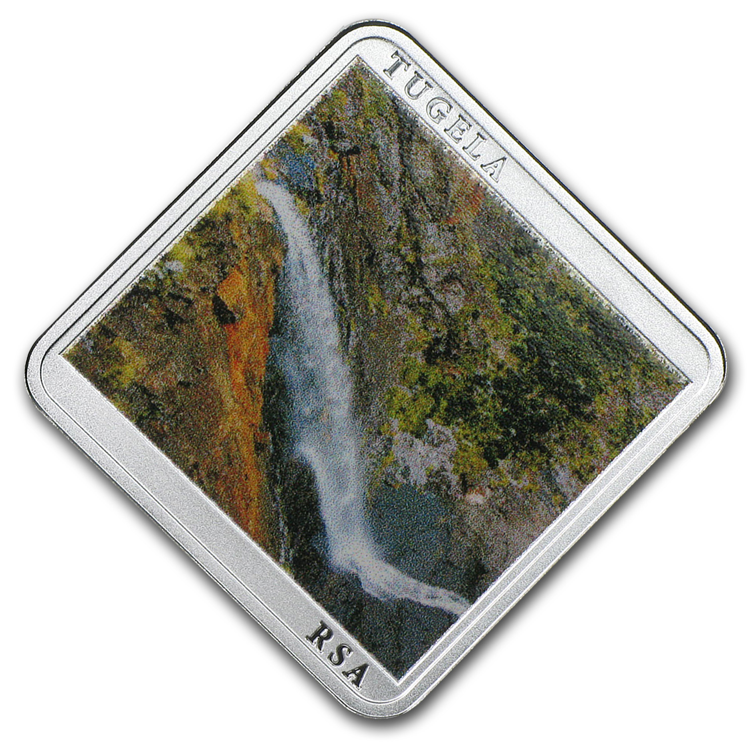 2015 Niue Silver Tugela Waterfall Square Coin Proof