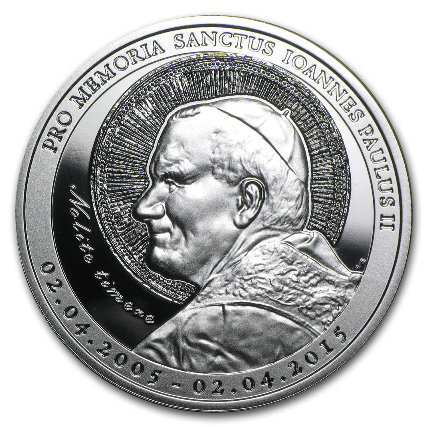 2015 Niue 1 oz Silver Pro Memoria Pope John Paul II Proof