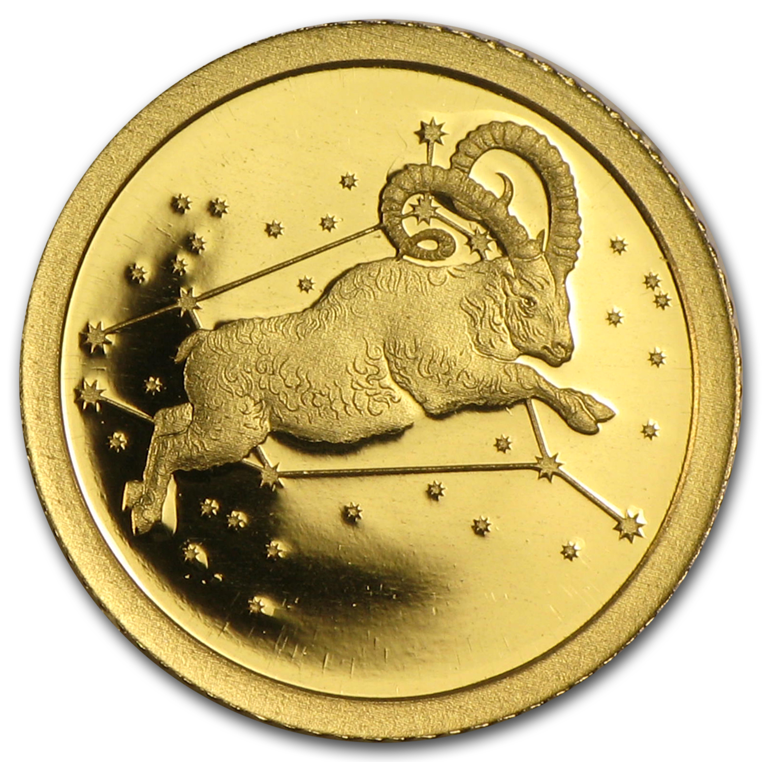 2015 Tokelau 1/2 gram Proof Gold $5 Aries, the Ram