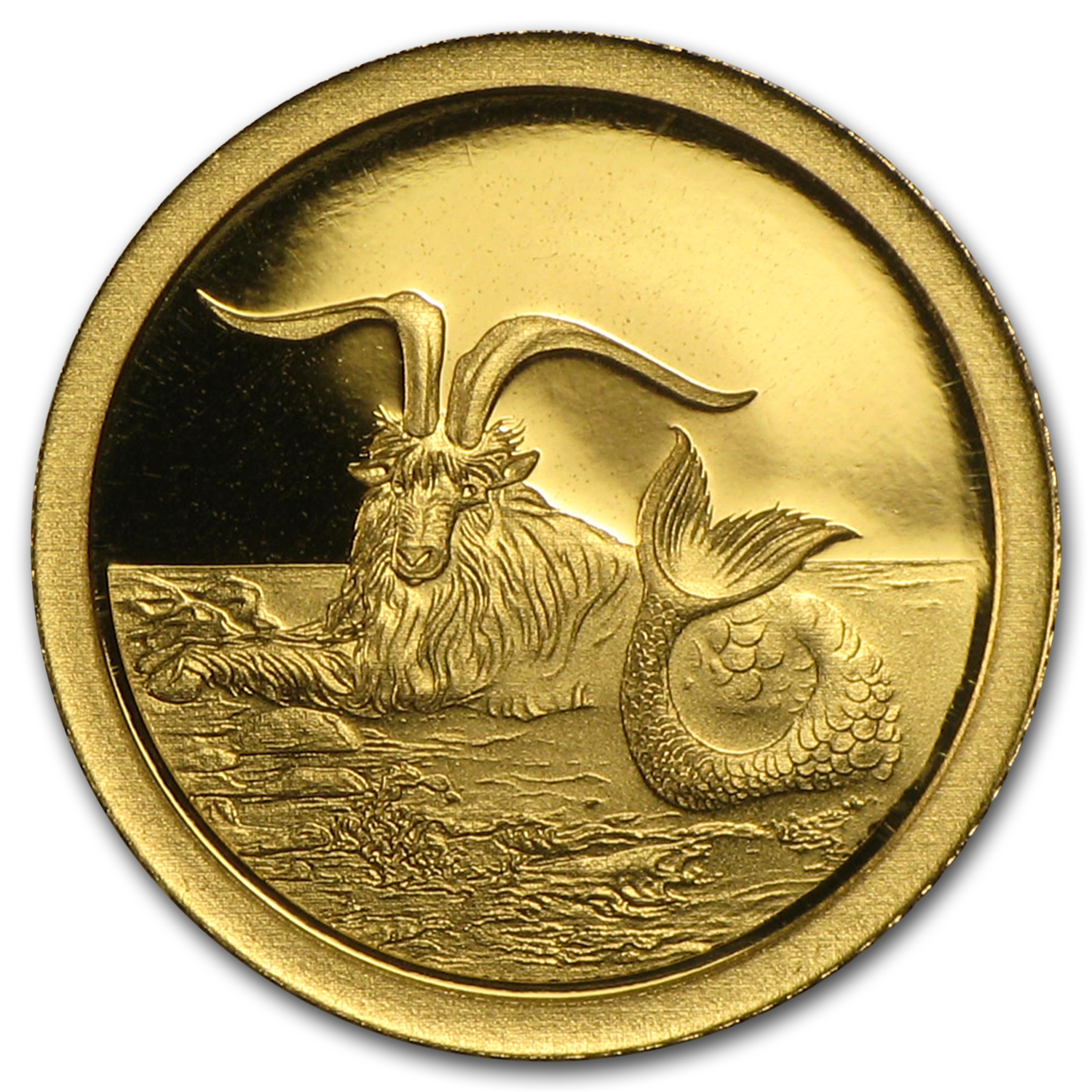 2015 Tokelau 1/2 gram Proof Gold $5 Capricornus the Goatfish