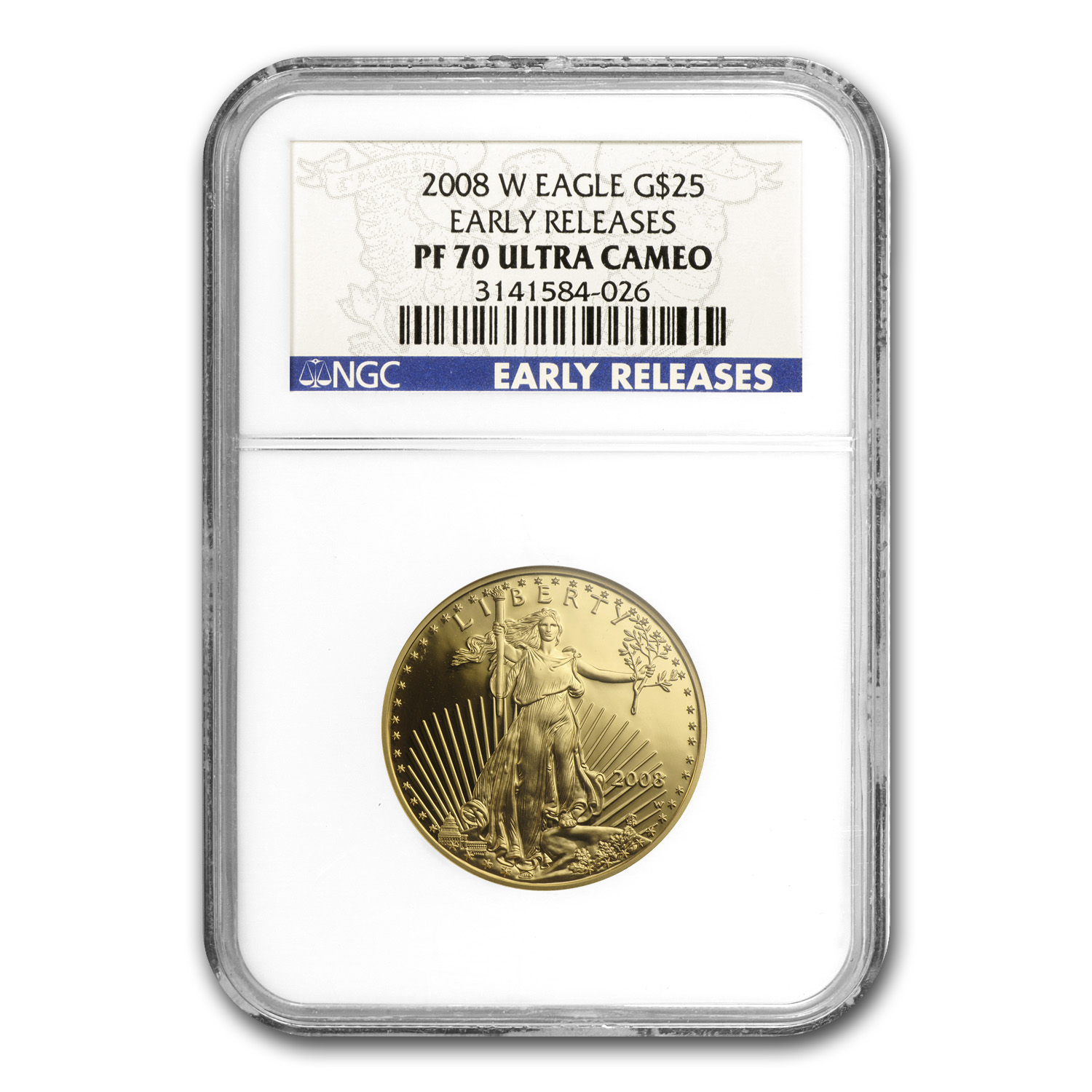 2008-W 4-Coin Proof Gold American Eagle Set PF-70 NGC (ER)