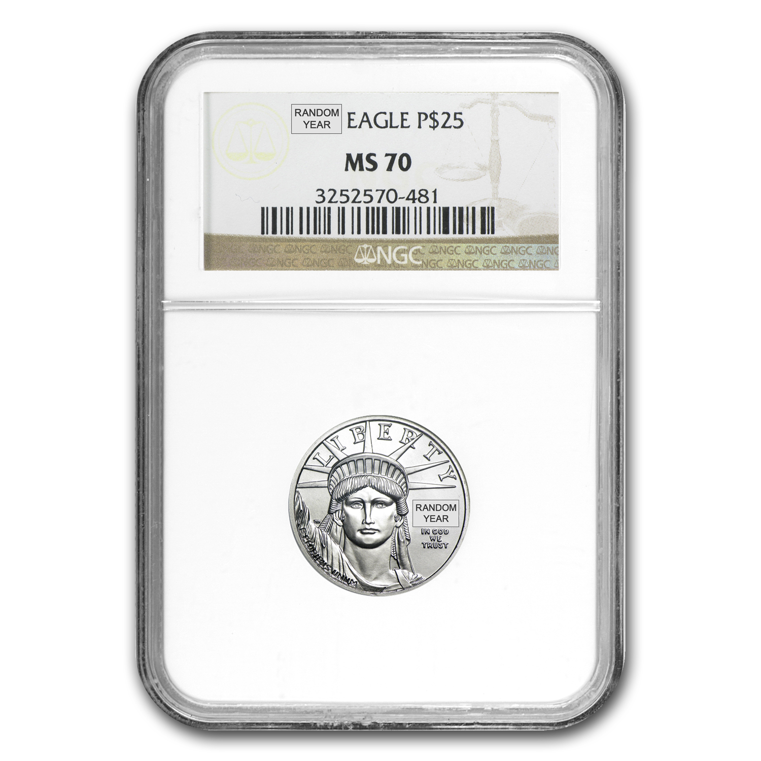 1/4 oz Platinum American Eagle MS-70 NGC (Random Year)