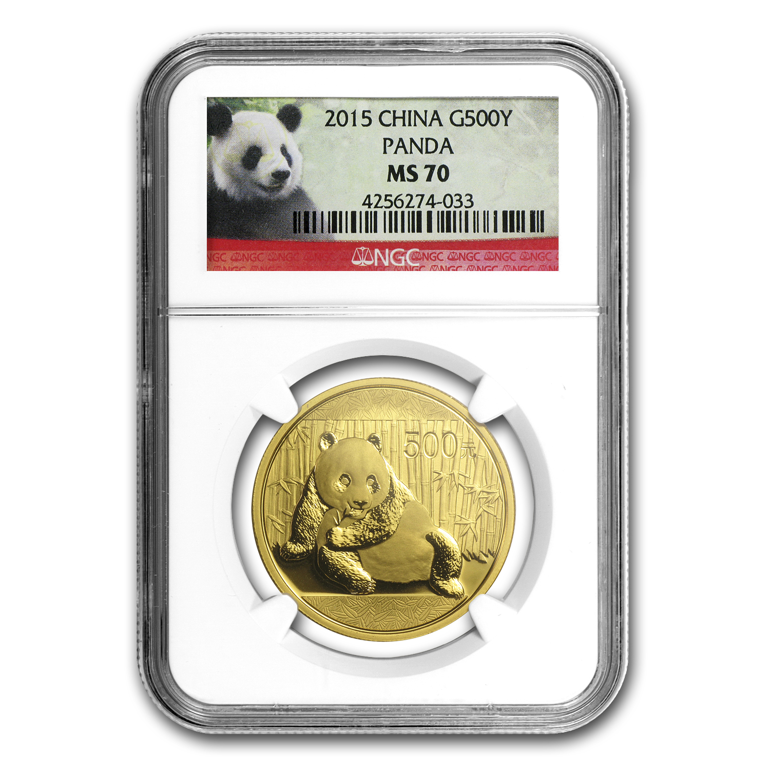 2015 China 1 oz Gold Panda MS-70 NGC