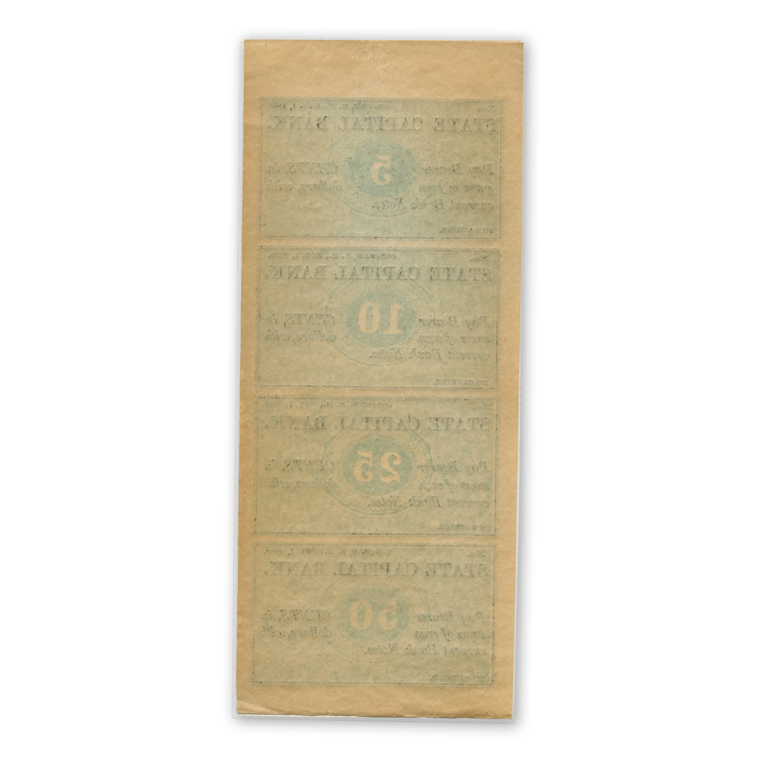 1862 Remainder Sheet State Capital Bank, Concord, NH AU