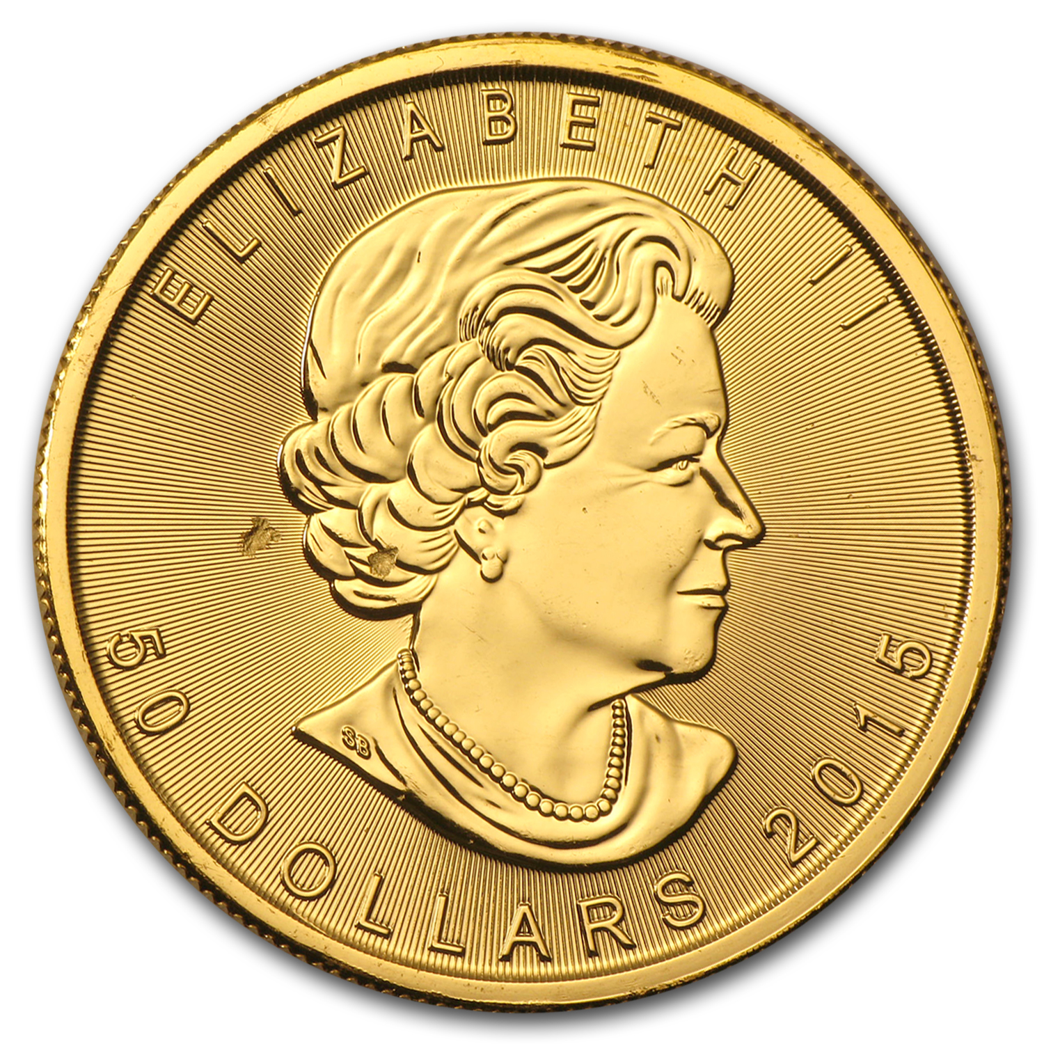 2015 Canada 1 oz Gold Maple Leaf BU (Strike-Thru)