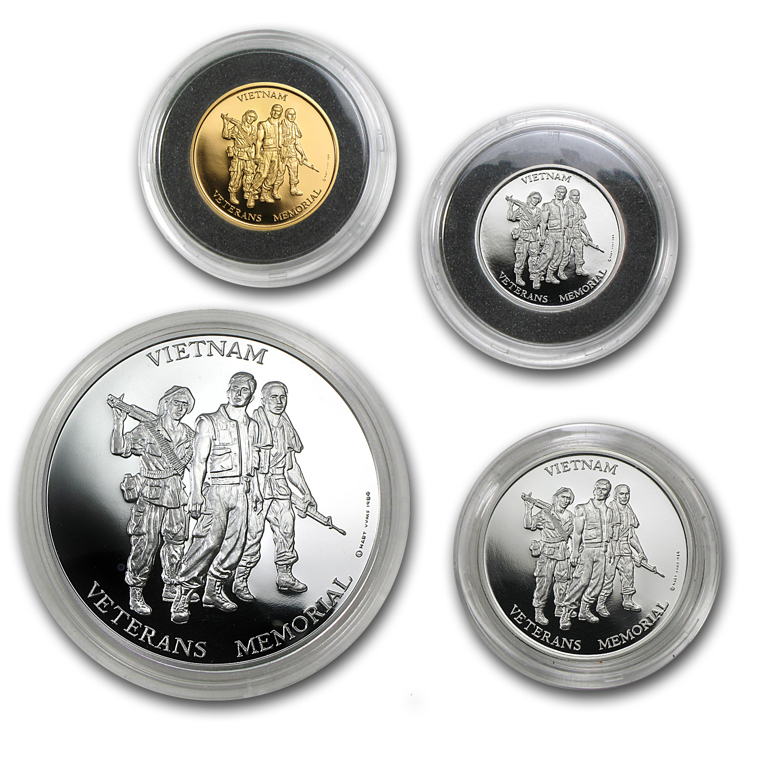 4 Metals Set - Vietnam Veterans Memorial Set (In Capsule)