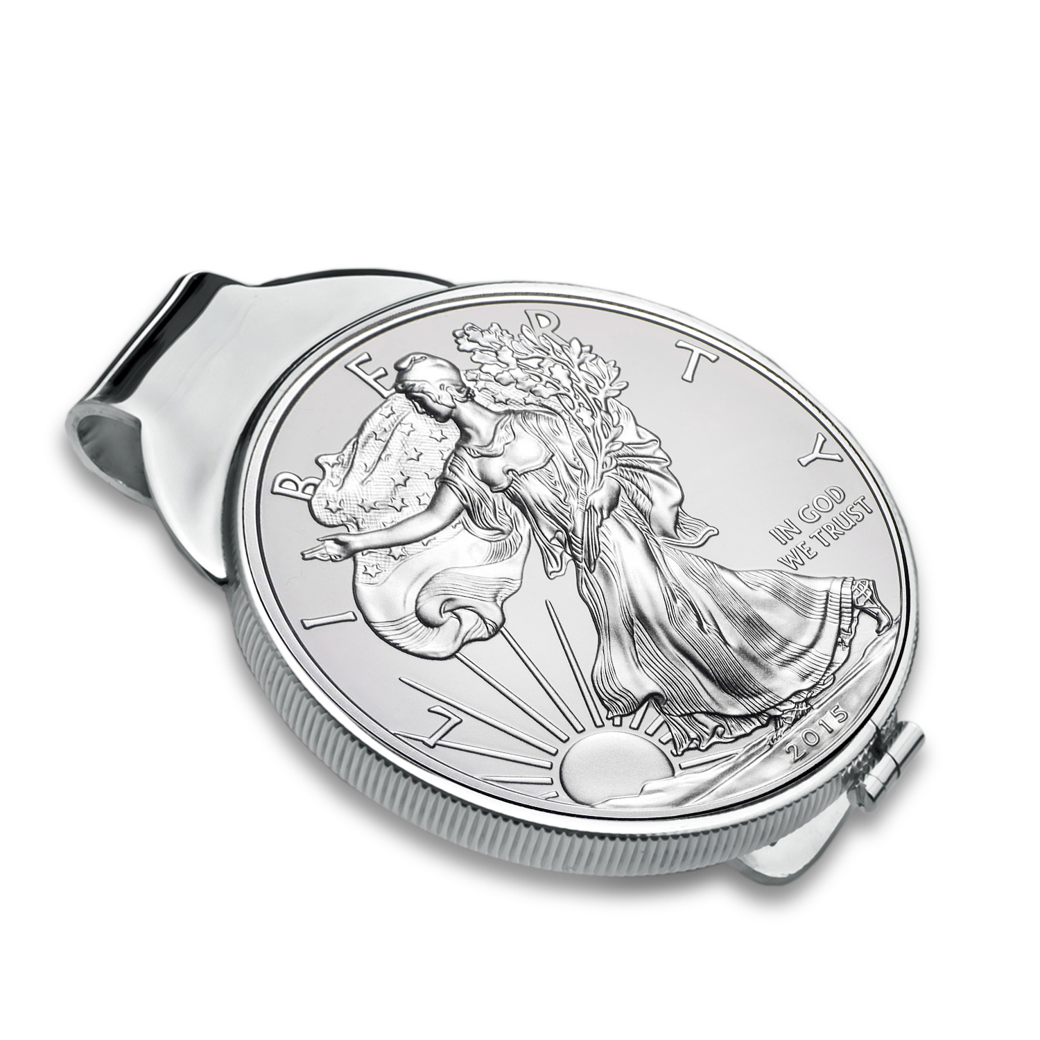 2015 1 oz Silver Eagle Money Clip (Sterling Silver Polished)