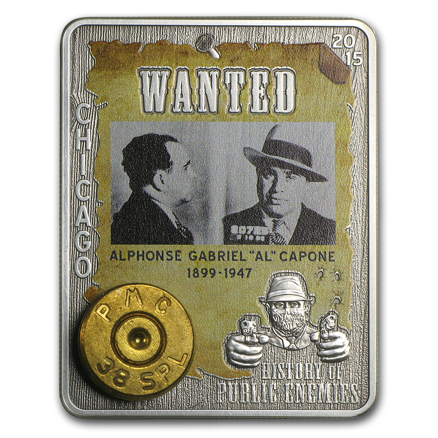 2015 CAR 1 oz Silver History of Public Enemies (Al Capone)