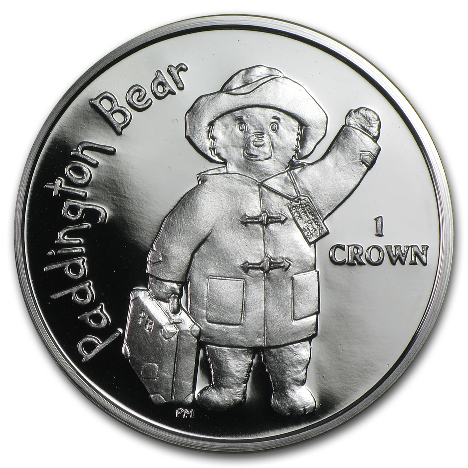 2015 Isle of Man Silver 1 Crown Paddington Bear Proof