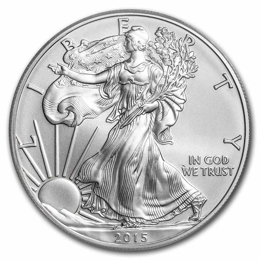 2015-W Burnished Silver American Eagle SP-70 PCGS (First Strike)