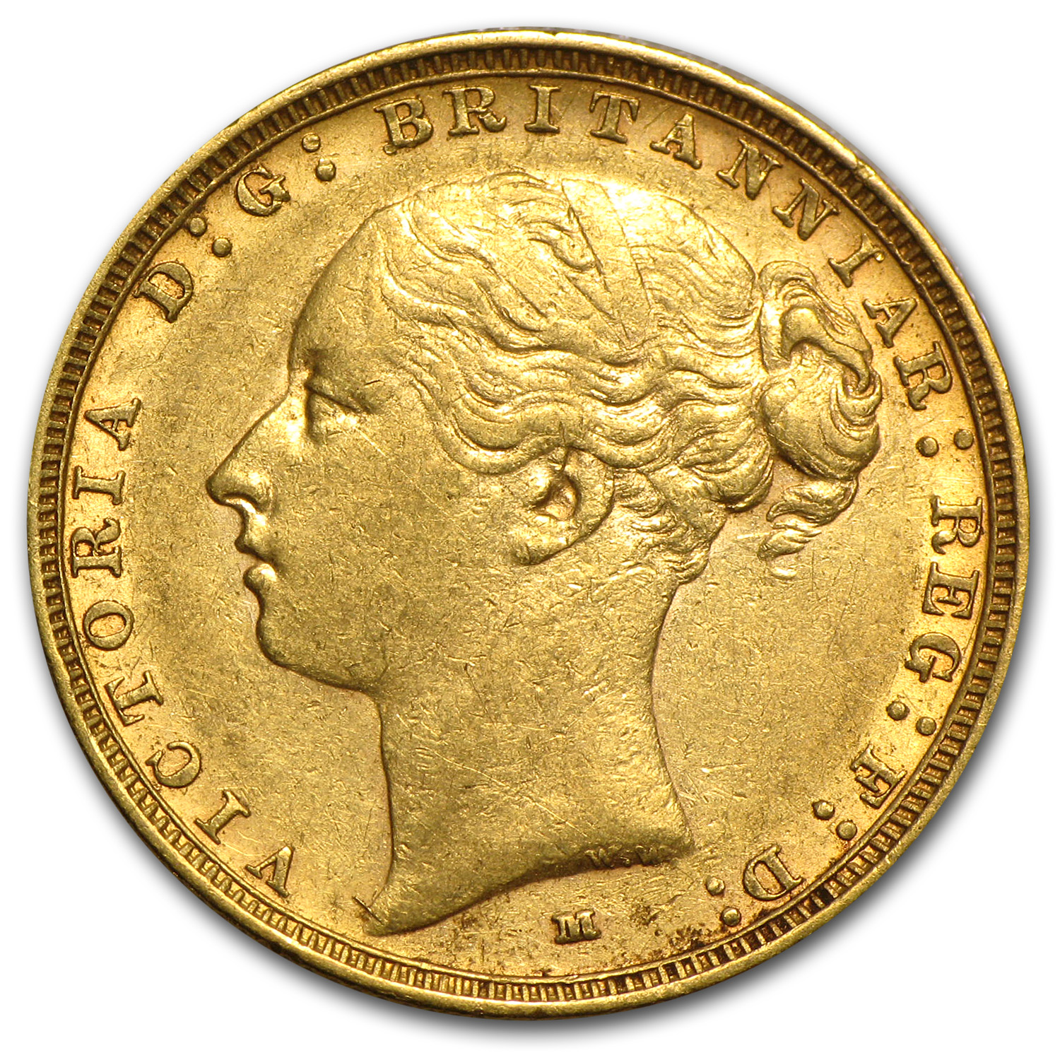1886-M Australia Gold Sovereign XF Details