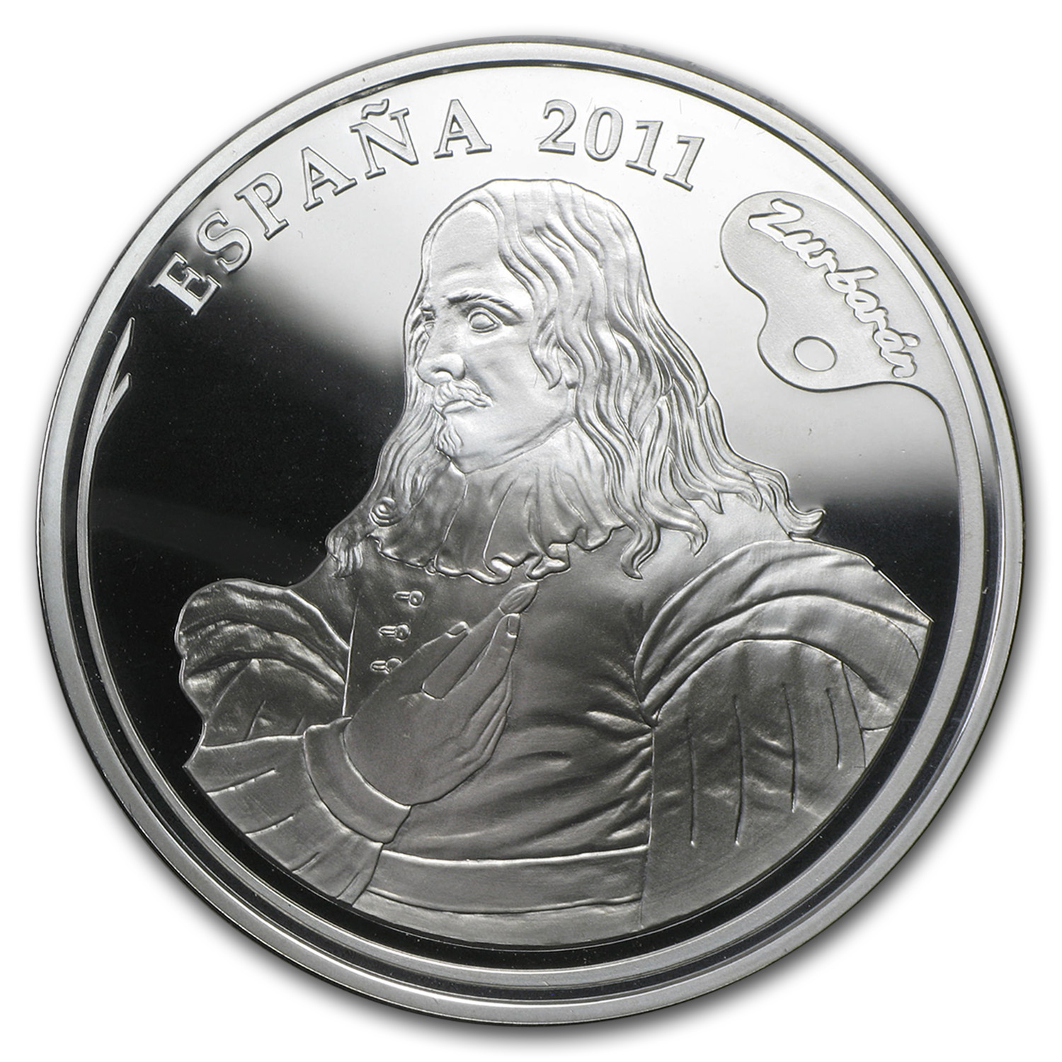 2011 Proof Silver €10 Zurbaran Painters IV