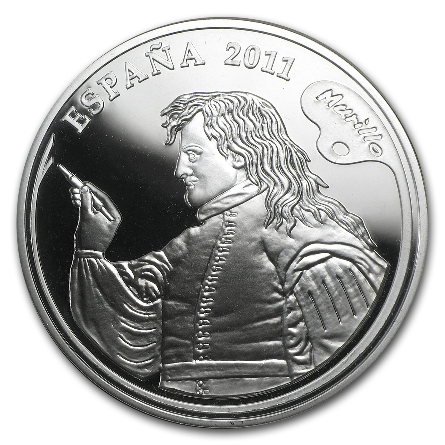 2011 Proof Silver €10 Murillo Painters IV