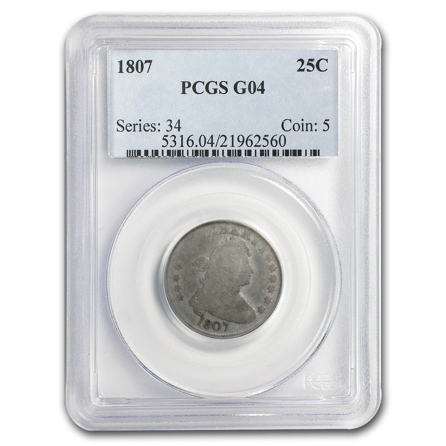 1807 Draped Bust Quarter Good-04 PCGS