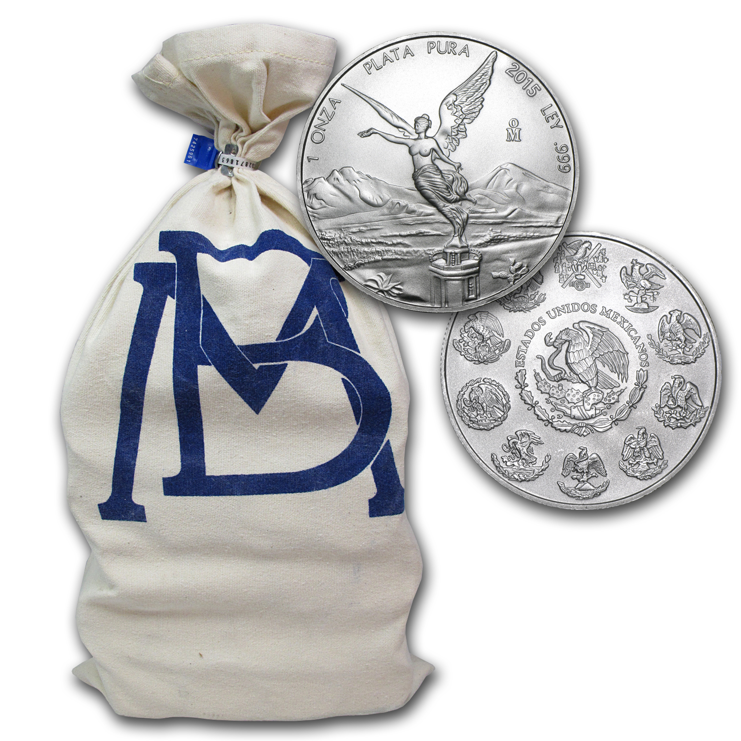 2015 Mexico 1 oz Silver Libertad (450-Coin Original Bank Bag)