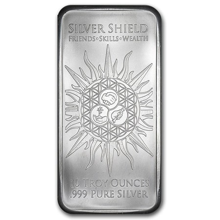 10 Oz Silver Bar Jesus Clears The Templar Silver