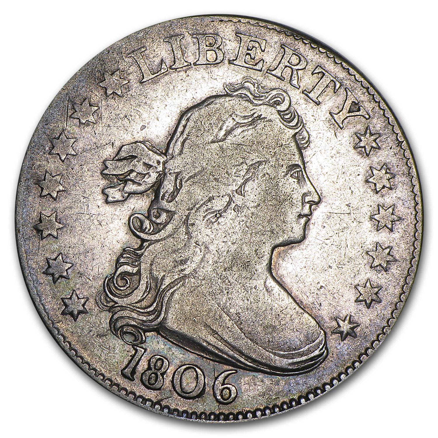 1806 Draped Bust Quarter Fine