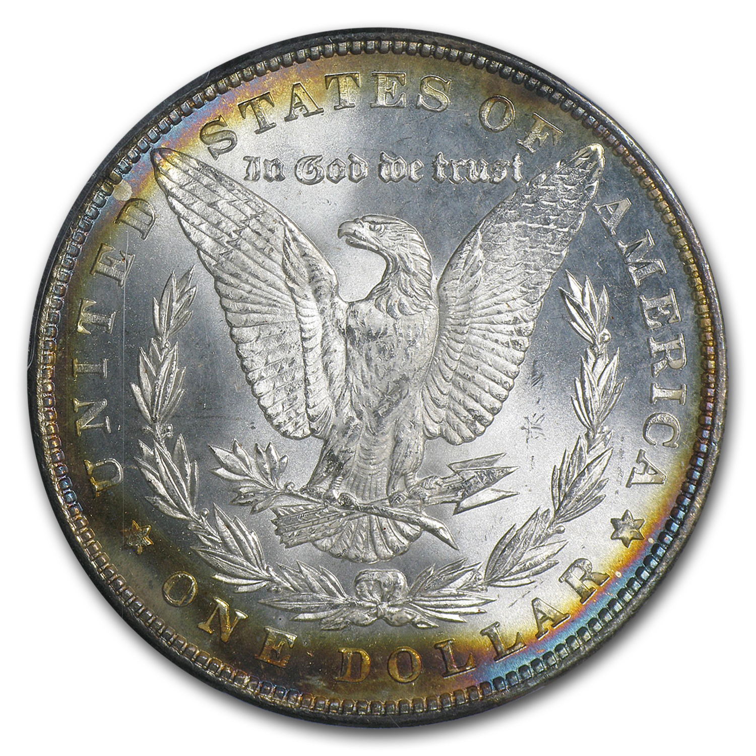 1884 Morgan Dollar MS-64+ Plus PCGS (Toned)
