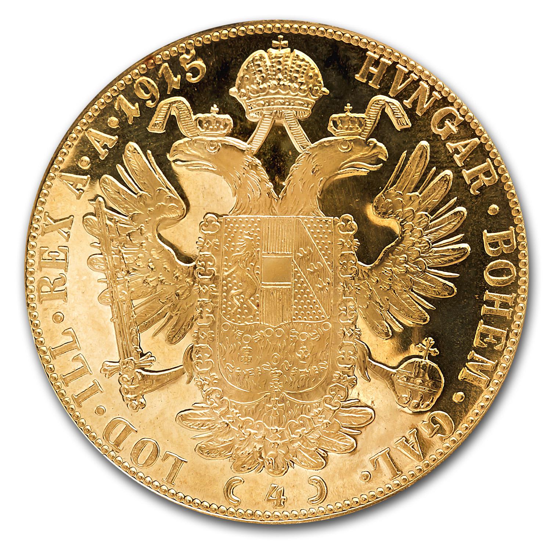 1915 Austria Gold 4 Ducat Au Bu Austrian Gold Vintage
